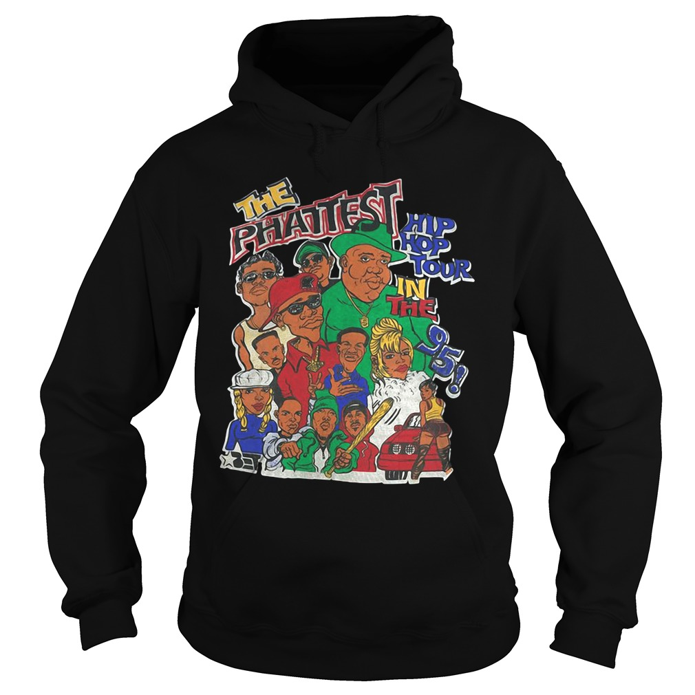 Vtg The Phattest Hip Hop Tour in the 95 Rap Biggie Jodeci hip hop Bad Boy hoodie