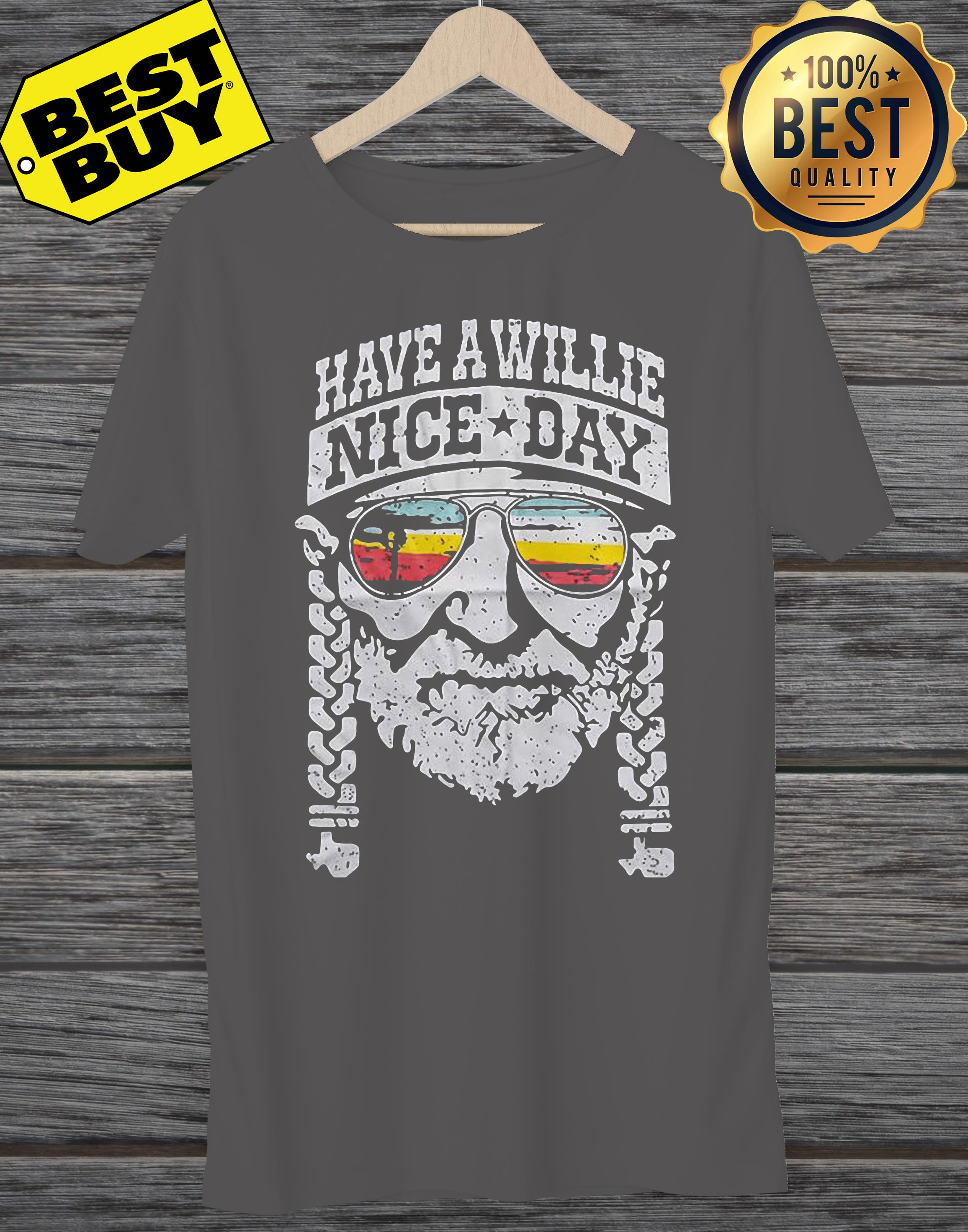 Willie Nelson have a willie nice day funny tank top