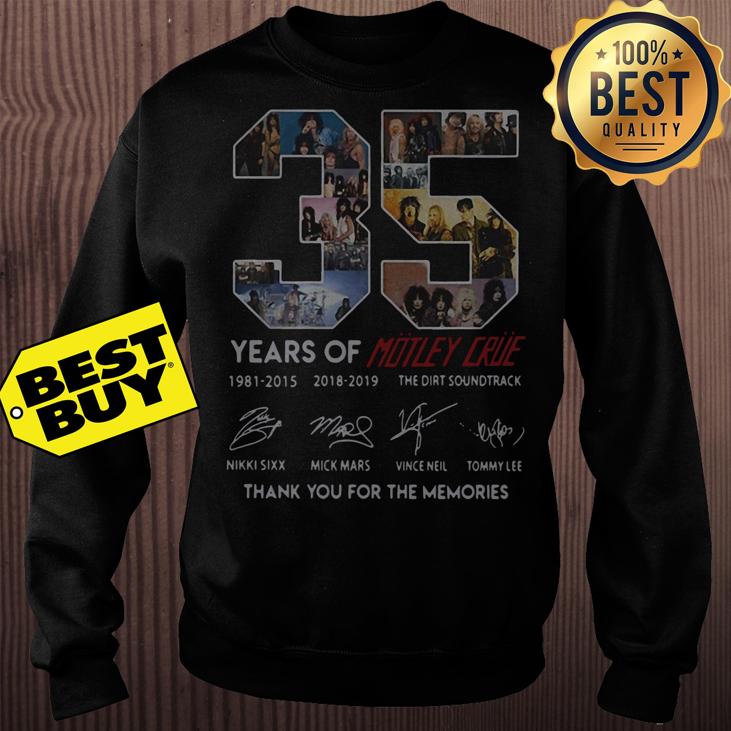 35 years of Motley Crue Thank you for the memories sweatshirt