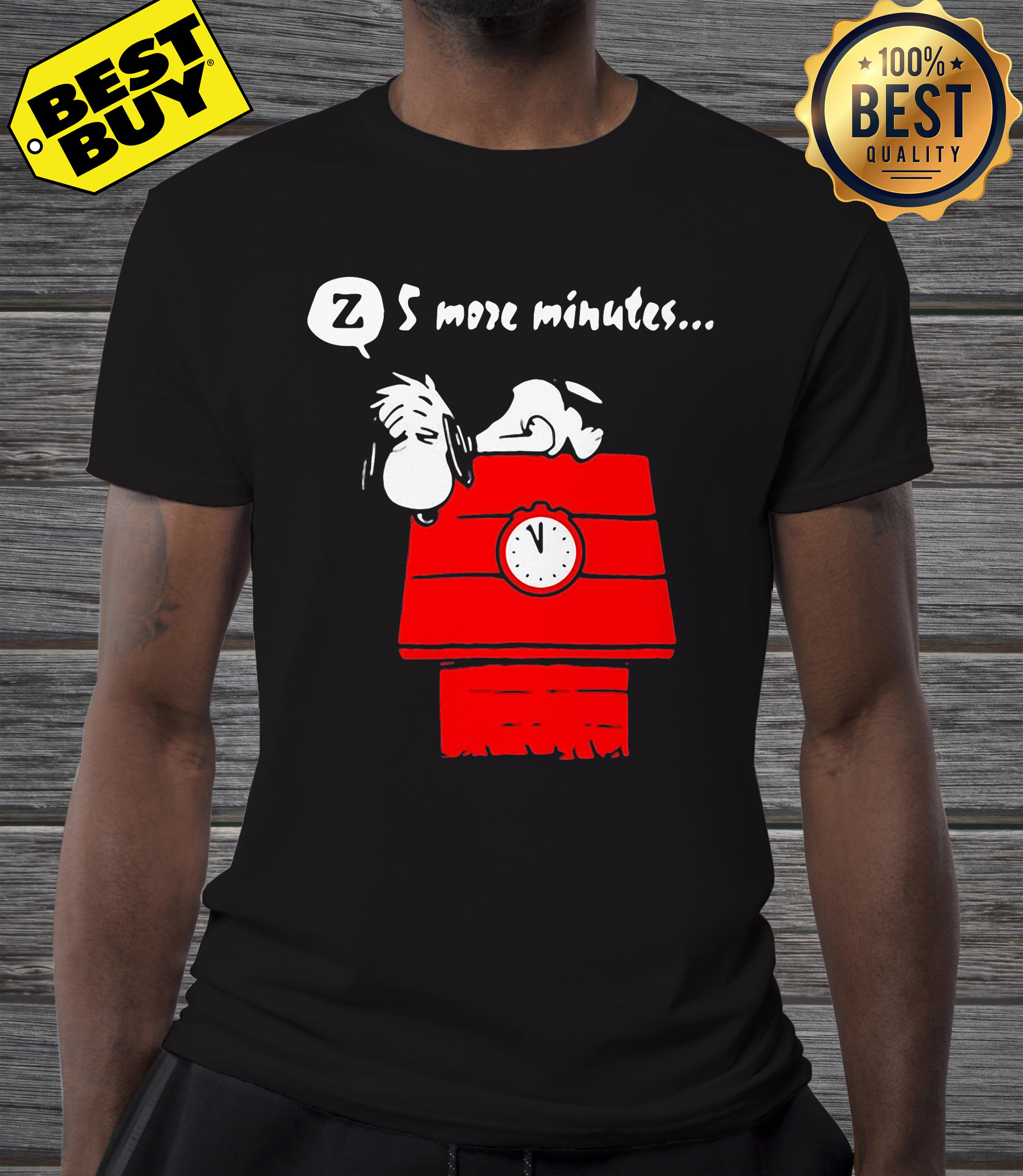 5 more minutes snoopy Sleep and the Red Baron v-neck