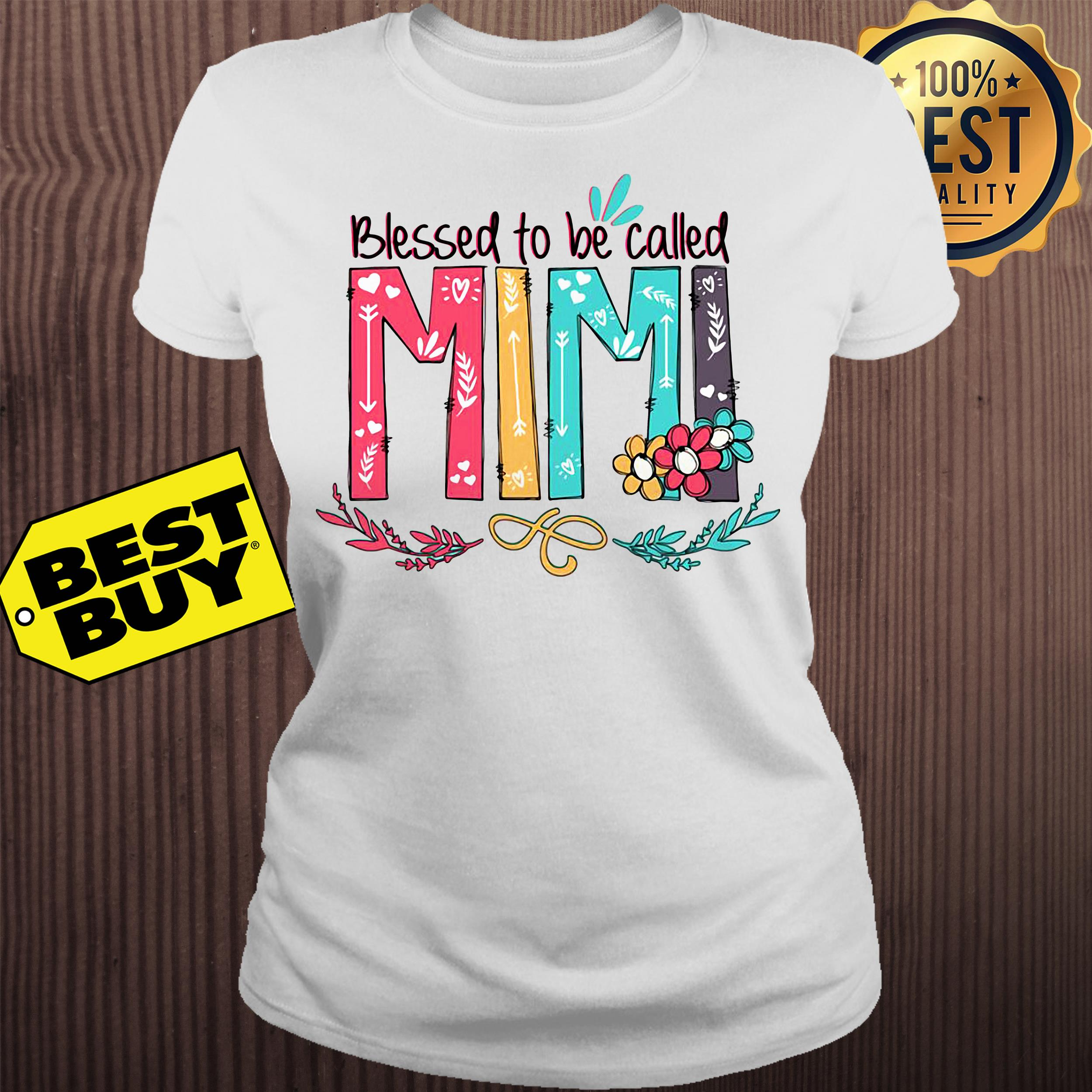 Blessed to be called Mimi flower ladies tee