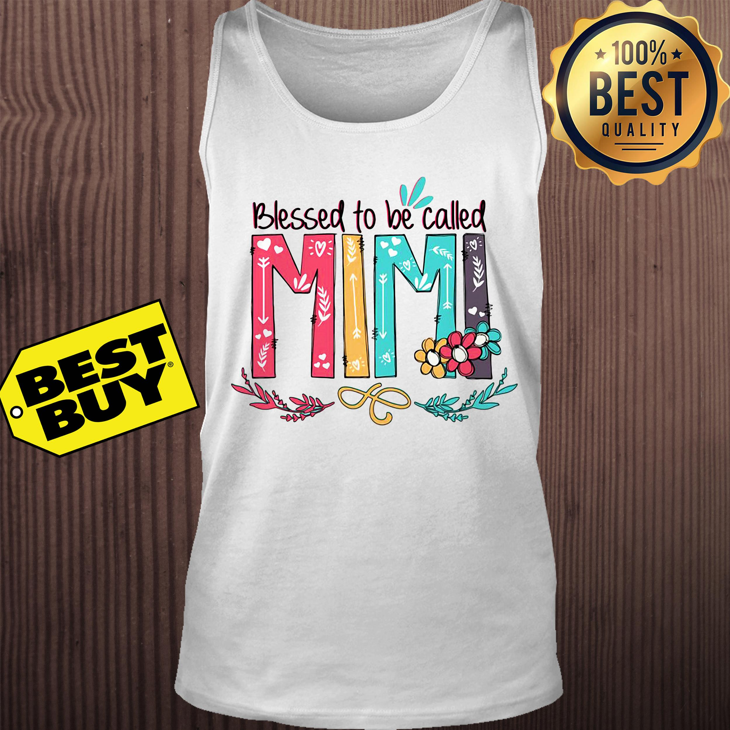 Blessed to be called Mimi flower tank top