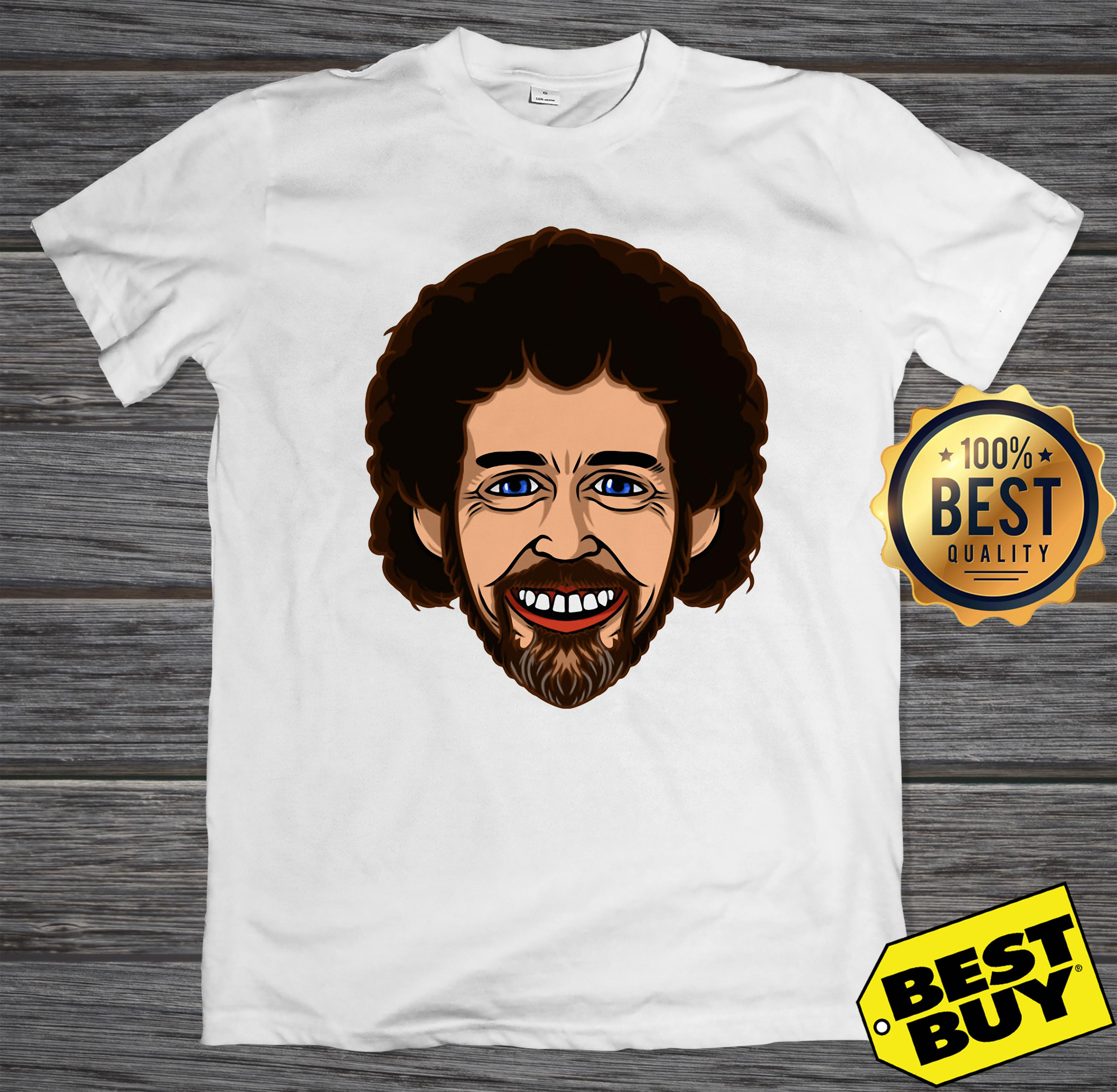 Bob Ross face smile hoodie