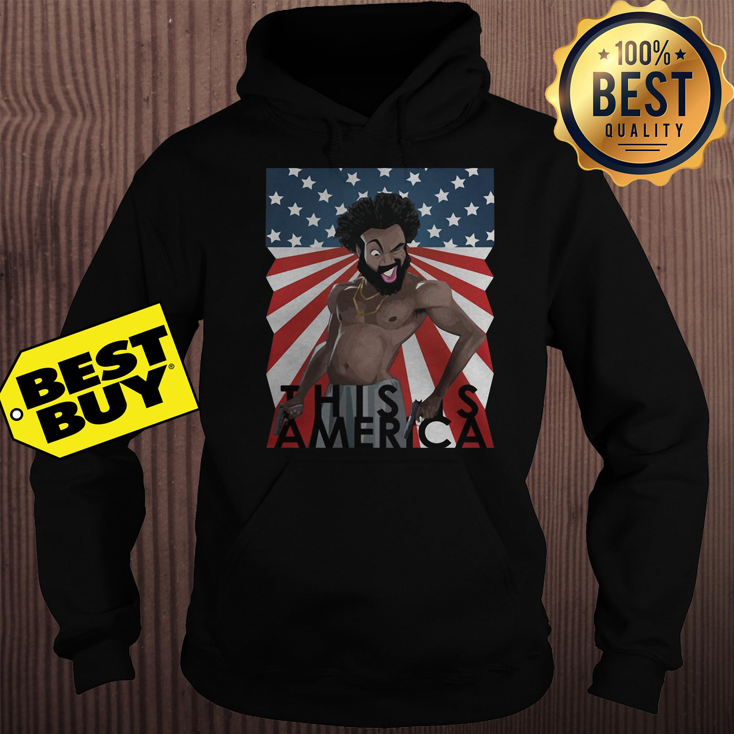 Childish Gambino This is America American Flag hoodie
