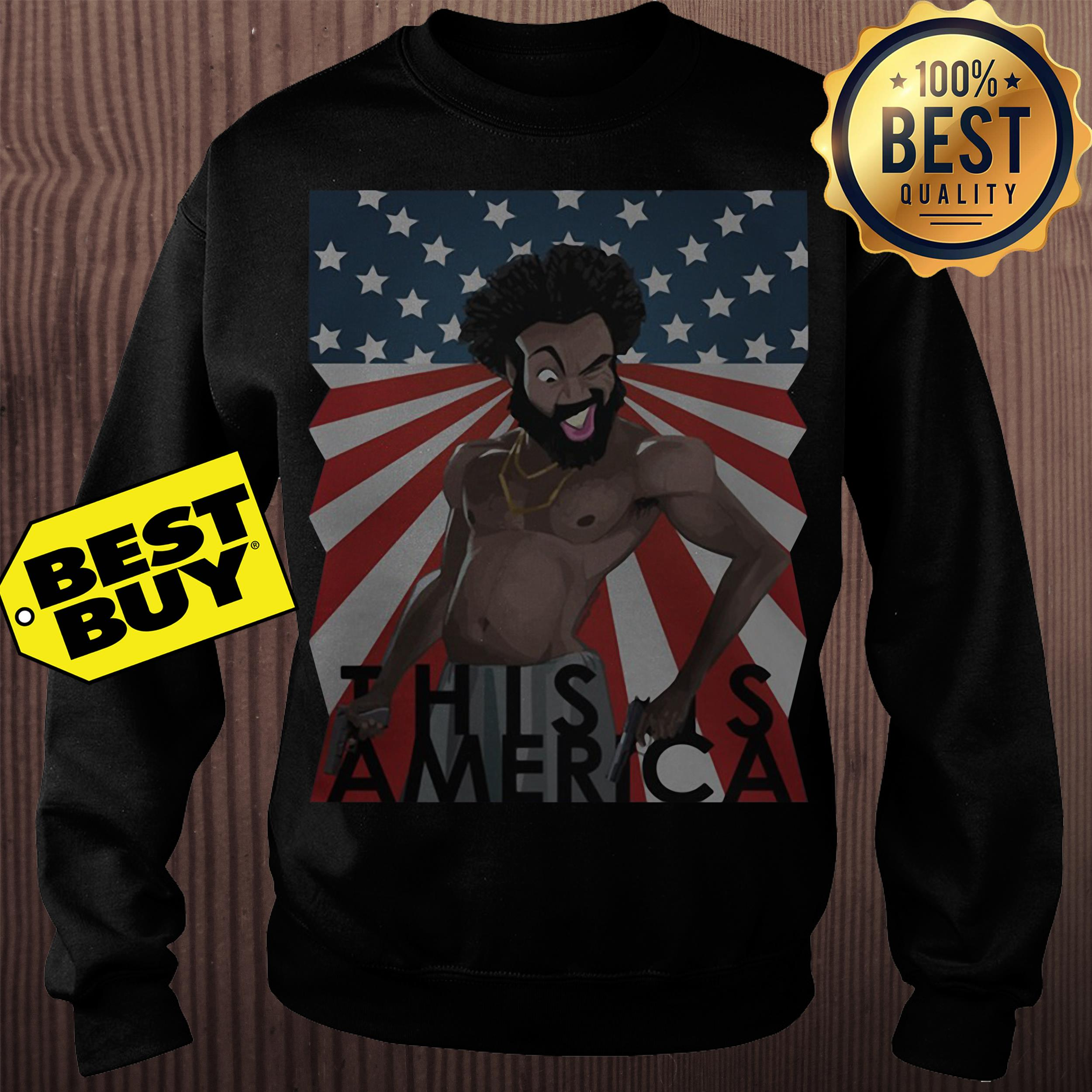 Childish Gambino This is America American Flag Shirt