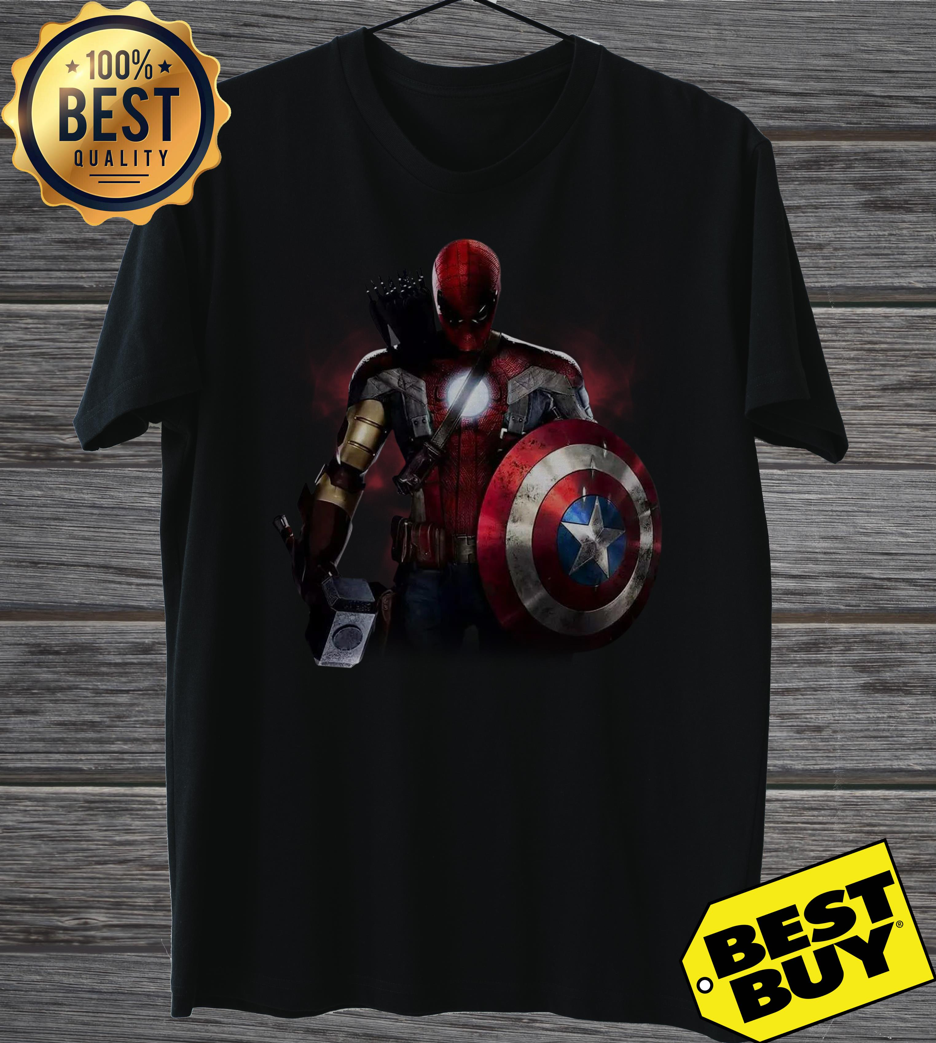 Civil War And You Cant Pick A Team Mix Of All Avengers ladies tee