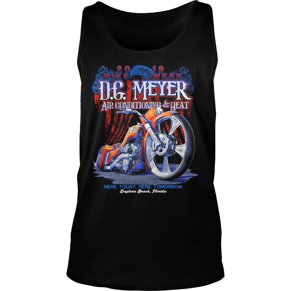 DG Meyer Air conditioning heat here today here tomorrow tank top