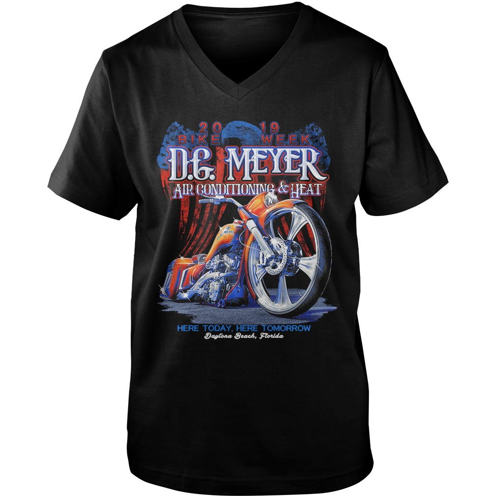 DG Meyer Air conditioning heat here today here tomorrow v-neck
