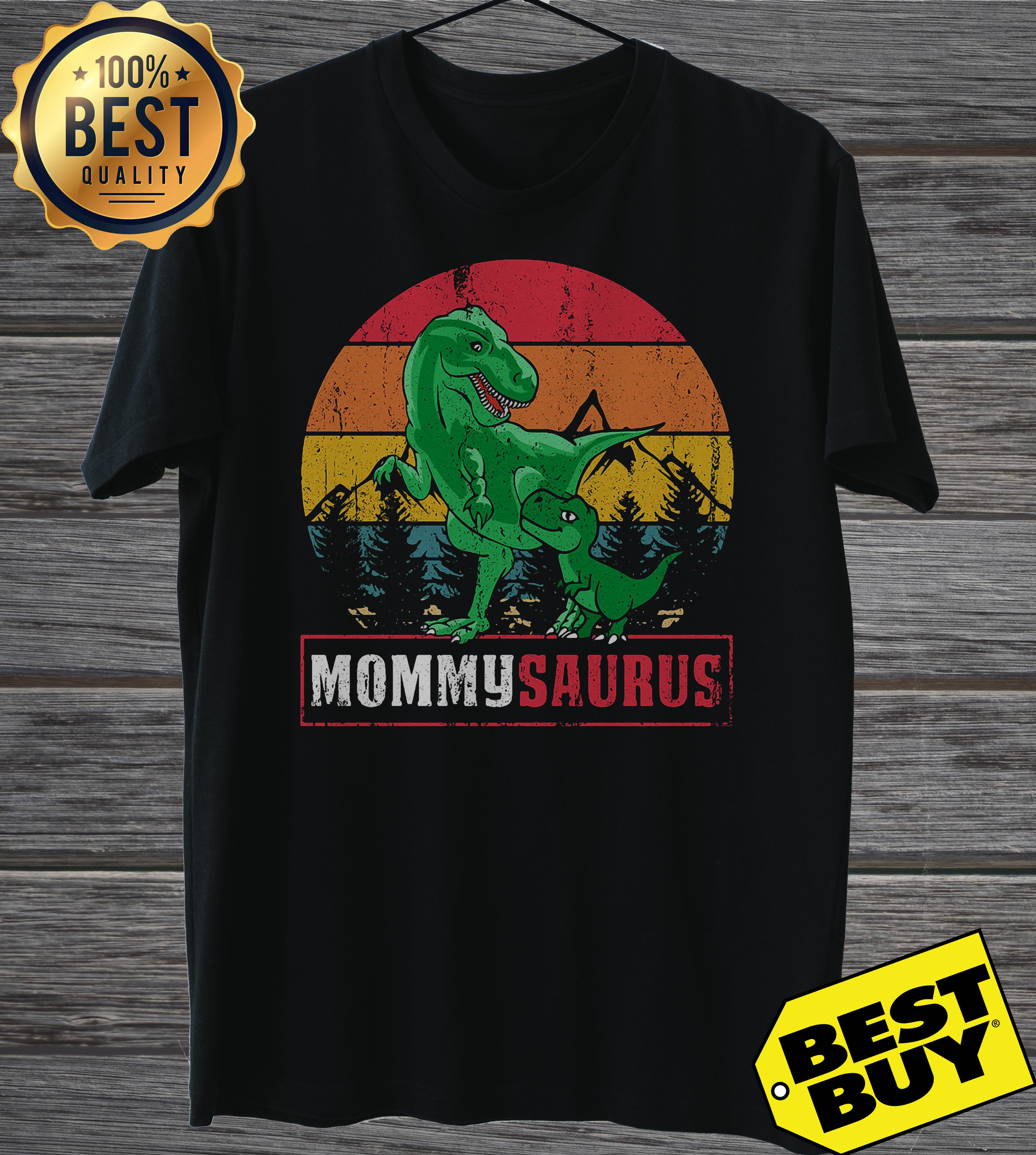 Dinosaur Mommysaurus Mother's Day vintage ladies tee