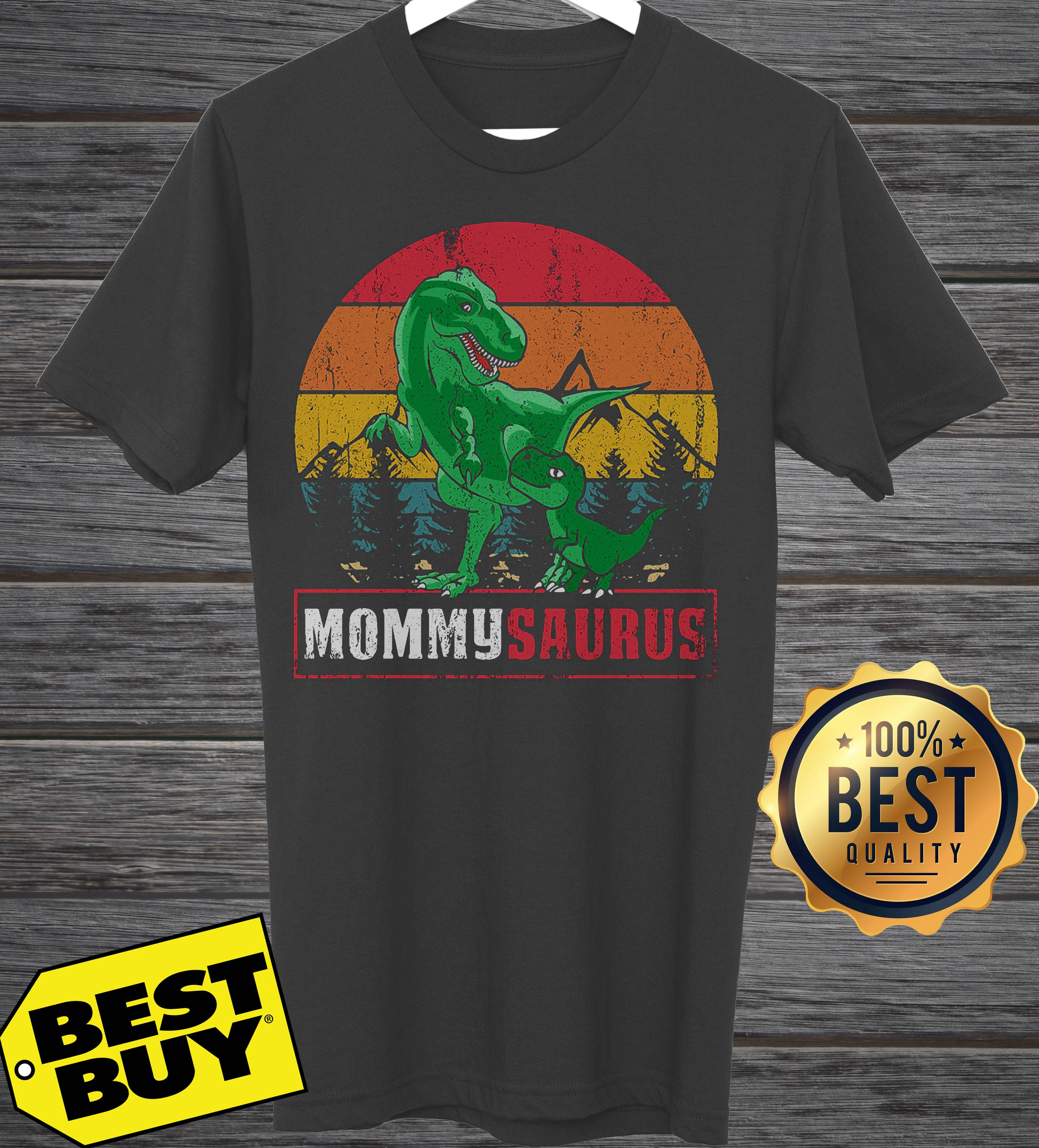 Dinosaur Mommysaurus Mother's Day vintage tank top