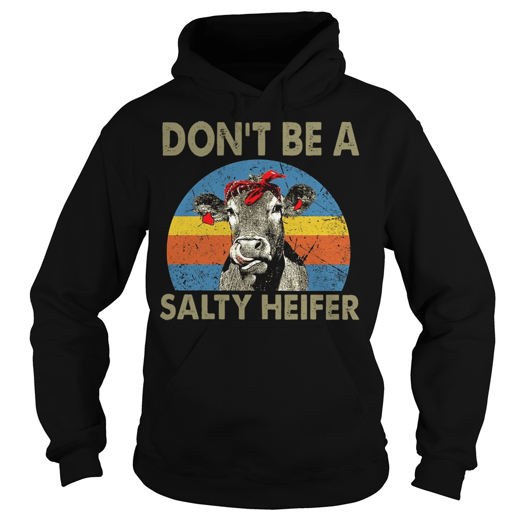 Don't Be A Salty Heifer Cow Lover hoodie