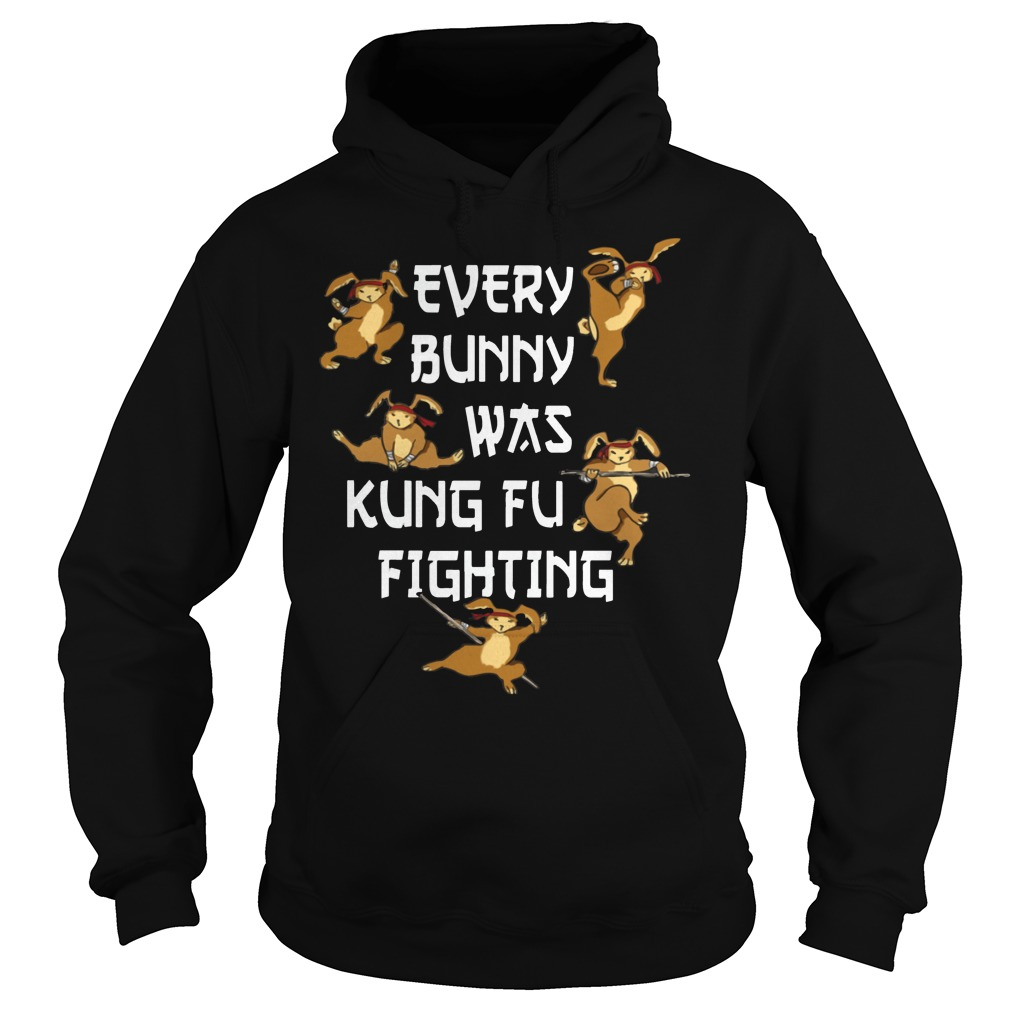 Every Bunny Was Kung Fu Fighting Funny Easter's Day hoodie