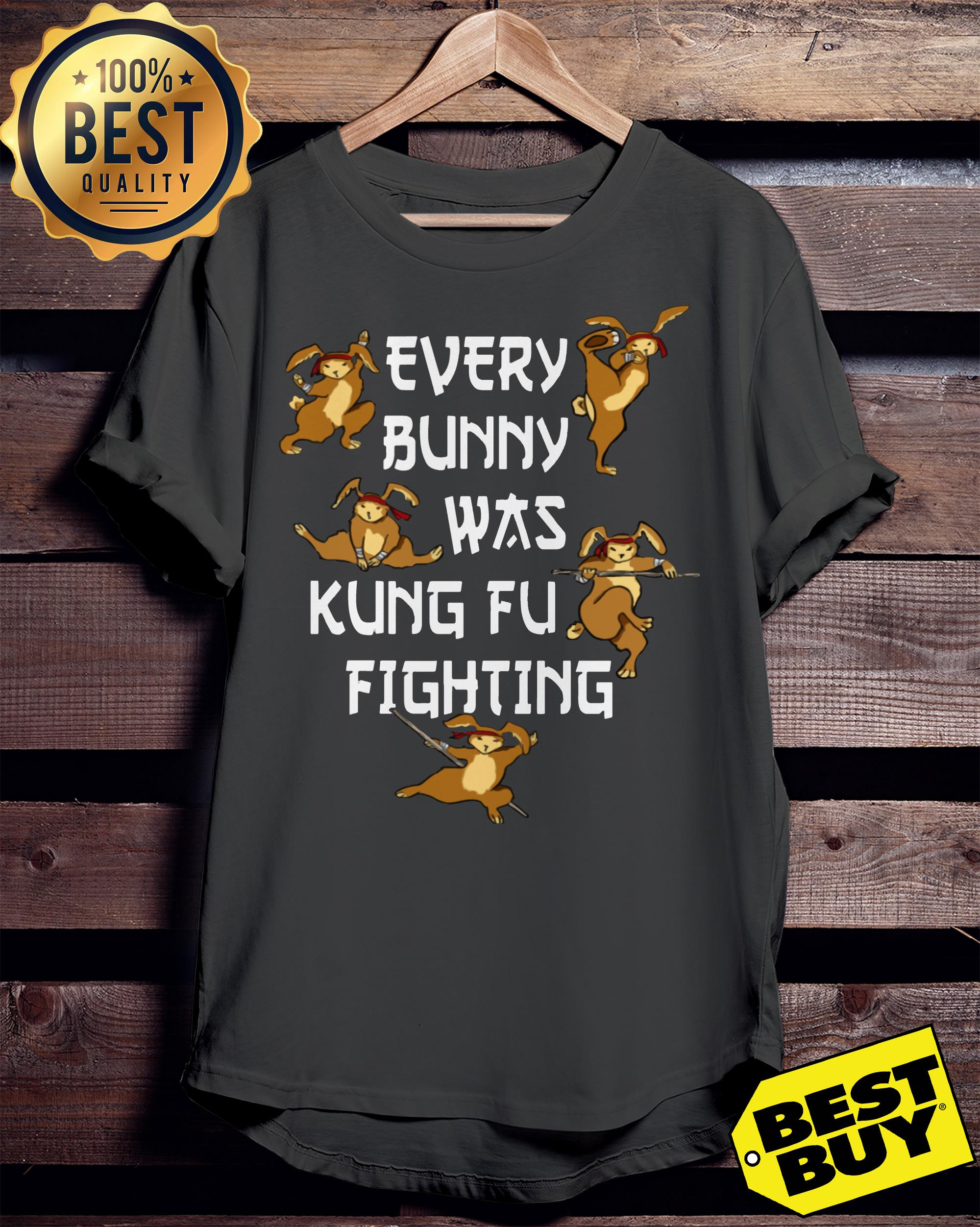 68163b01 Every Bunny Was Kung Fu Fighting Funny Easter's Day shirt, ladies tee, tank  top, and v-neck