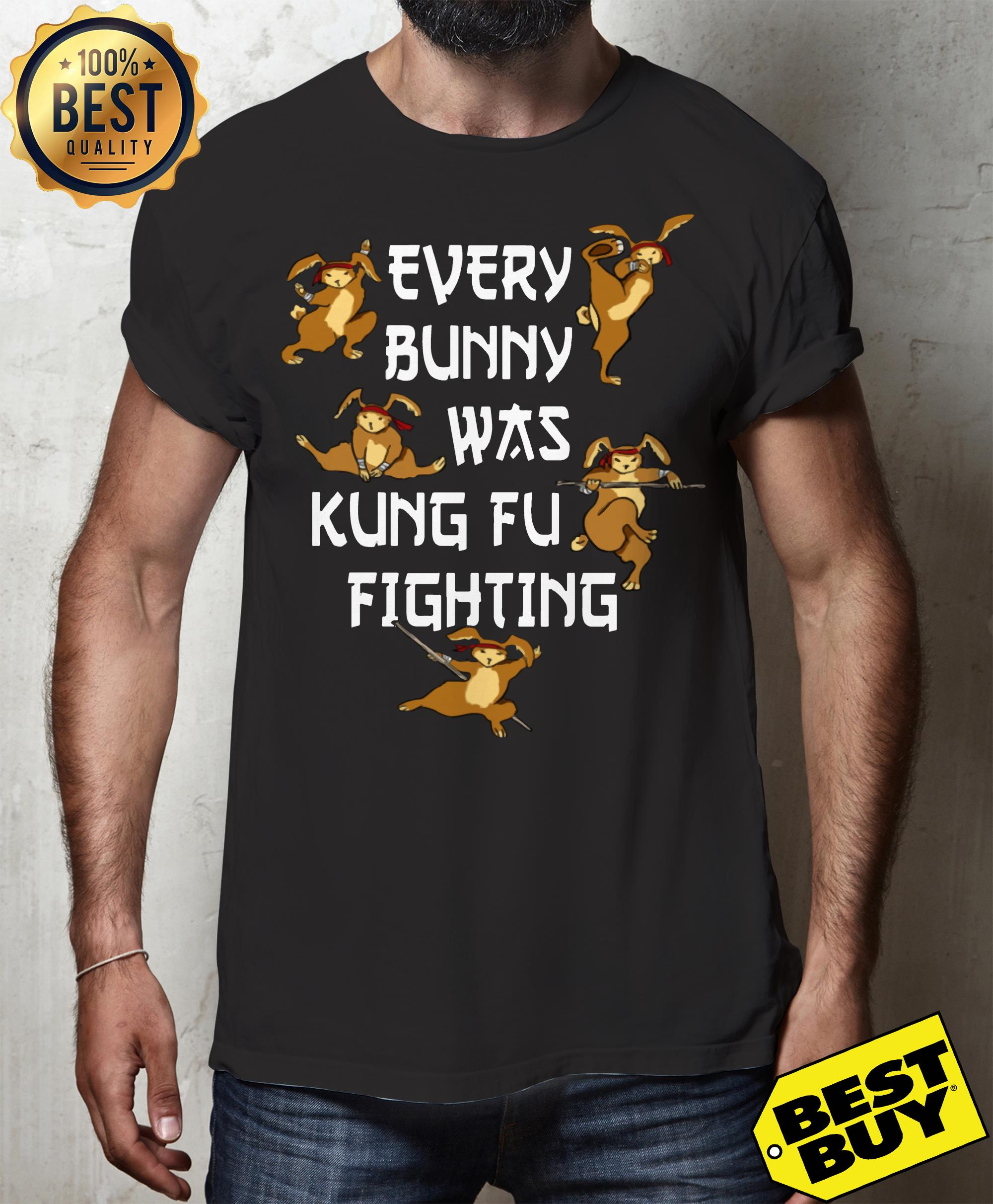 Every Bunny Was Kung Fu Fighting Funny Easter's Day v-neck