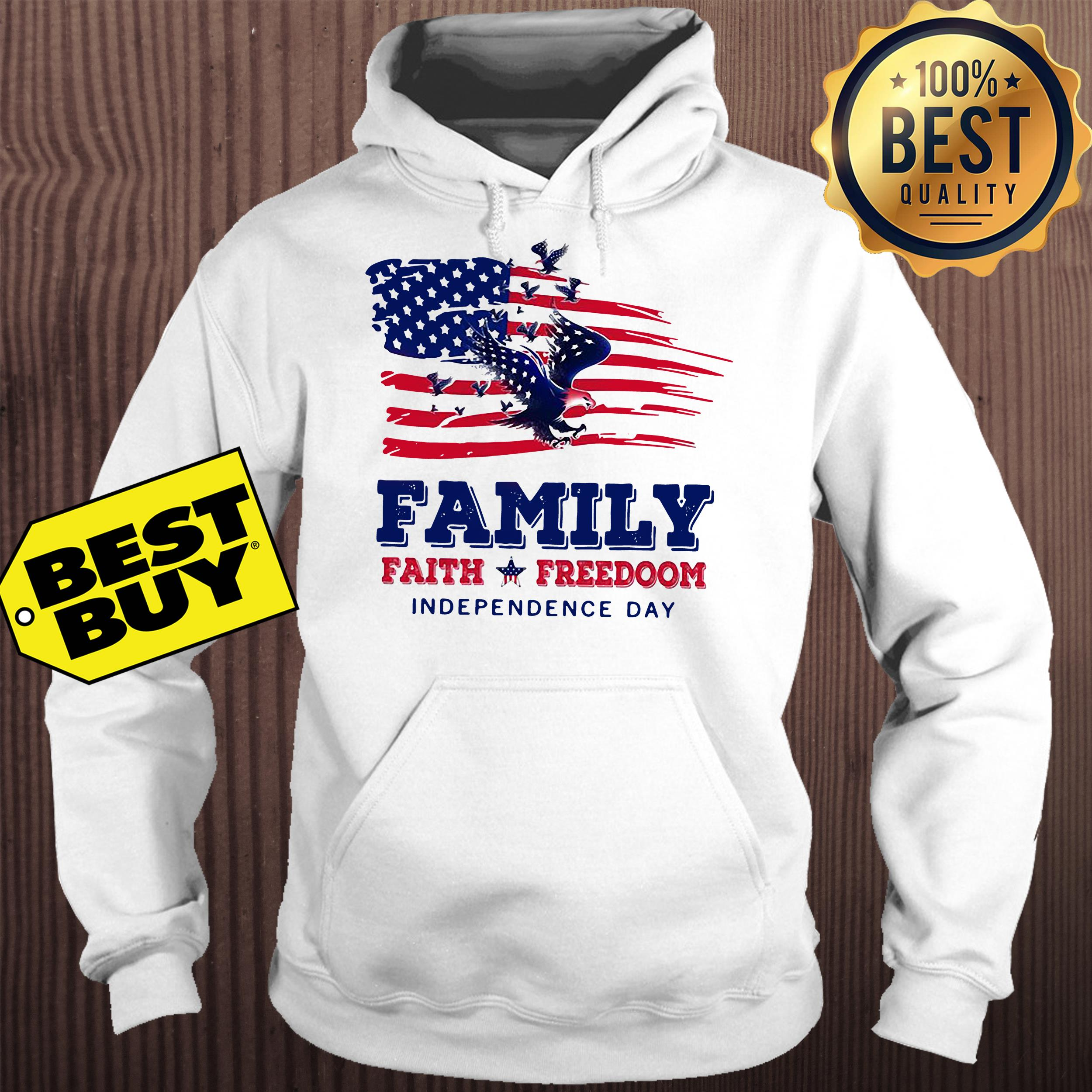 Family faith Freedoom Independence day American flag hoodie