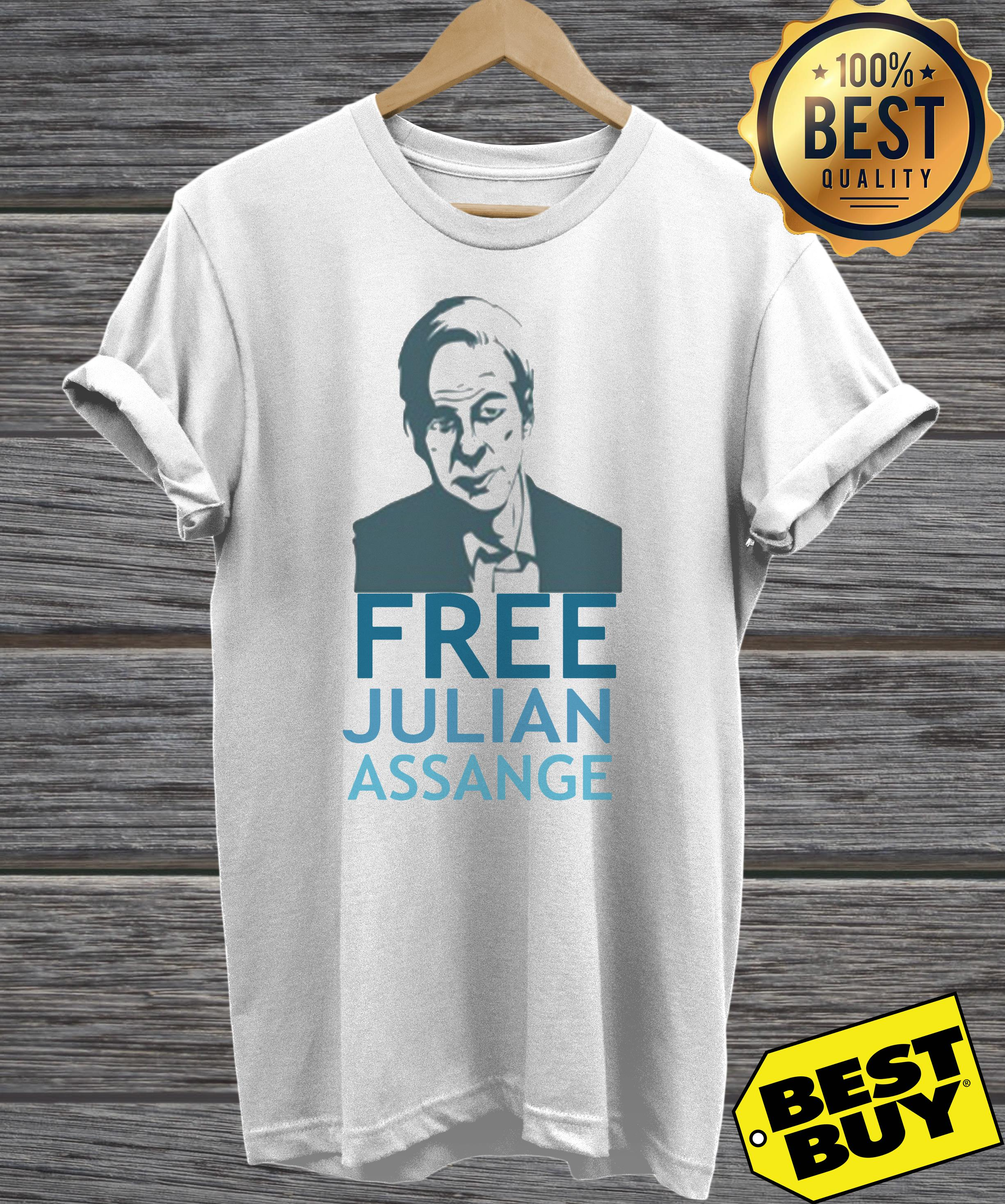 Free Julian Assange ladies tee