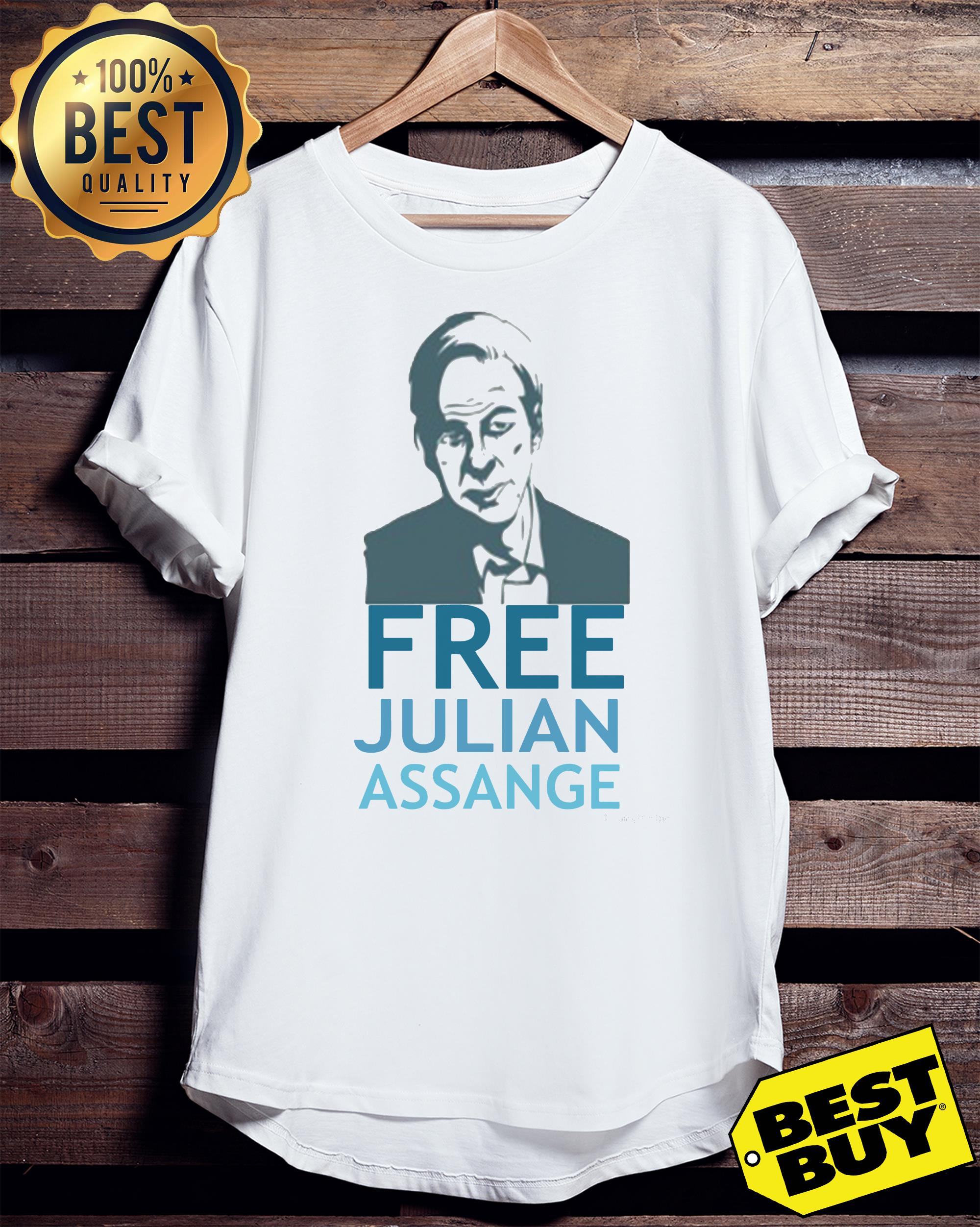 Free Julian Assange v-neck