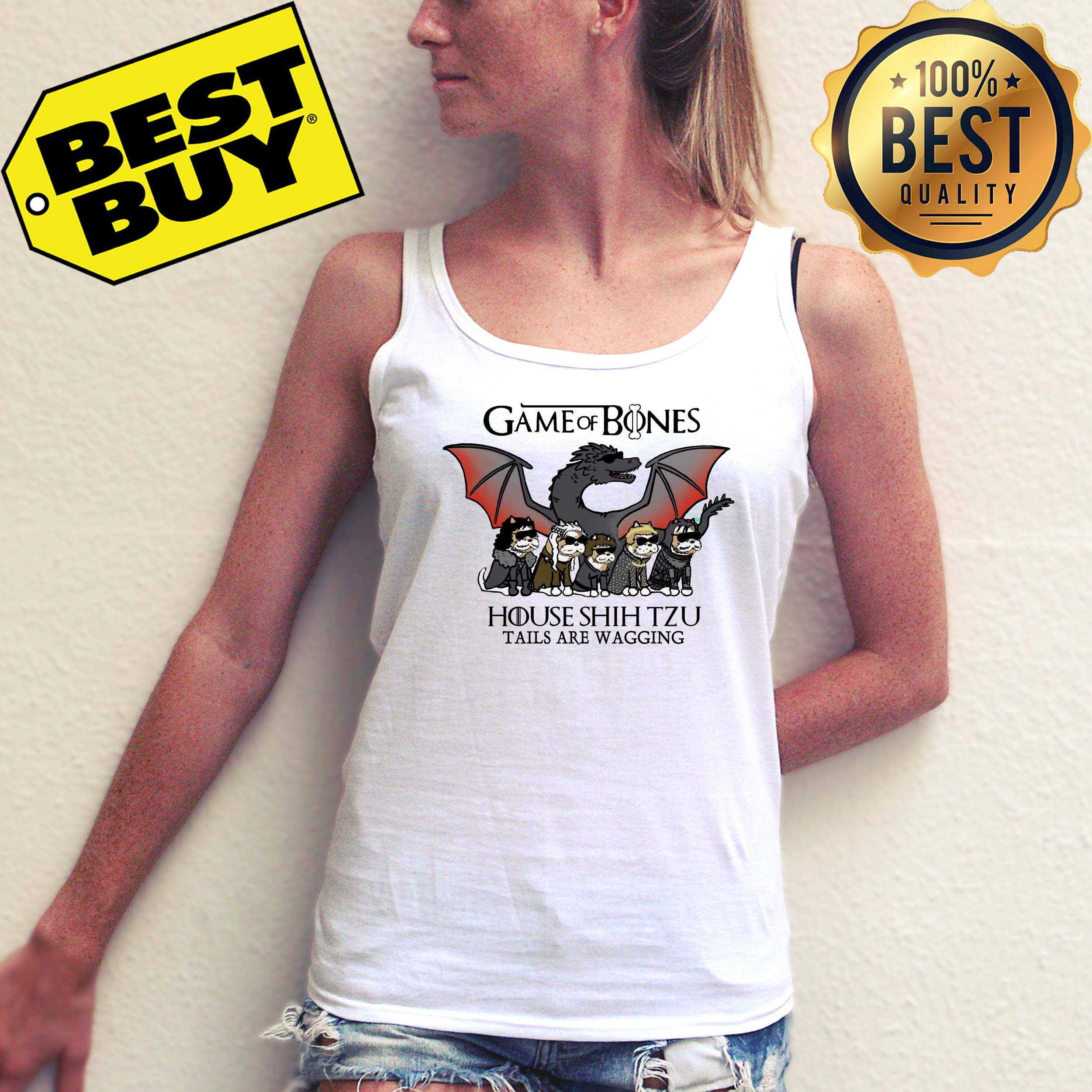 Game of Bones house Shih Tzu tails are wagging ladies tee