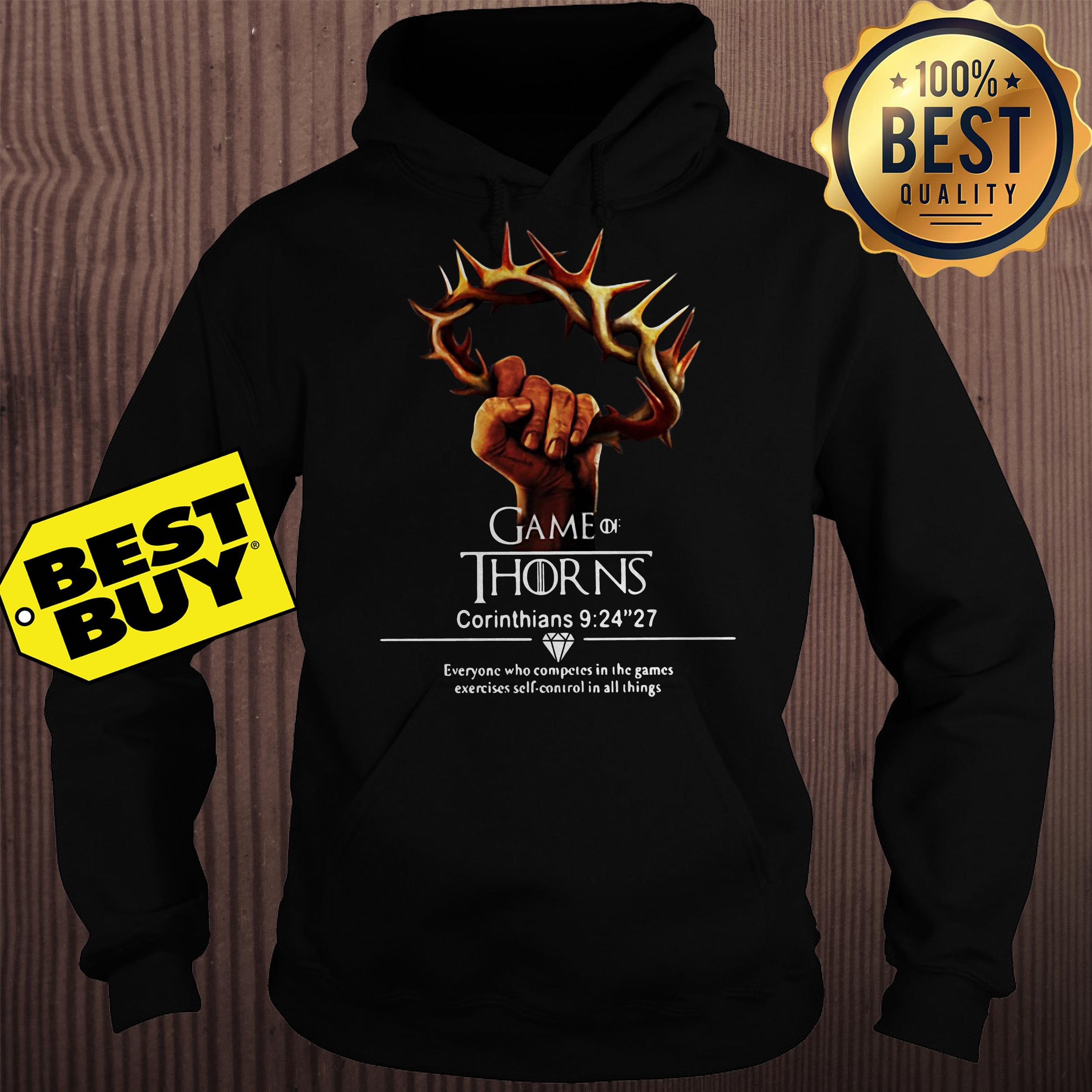 Game of thrones Corinthians 9:24''27 hoodie