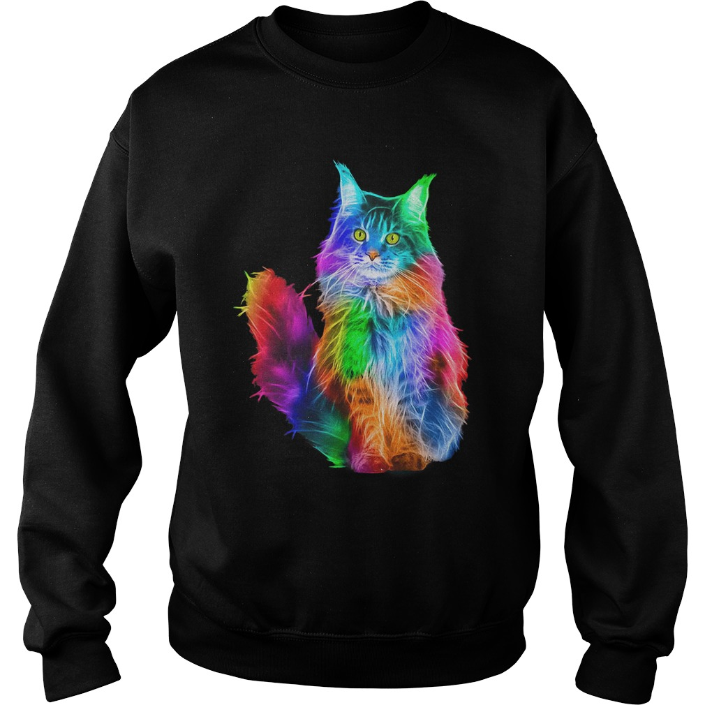 Gay Pride Rainbow Cat LGBT sweatshirt