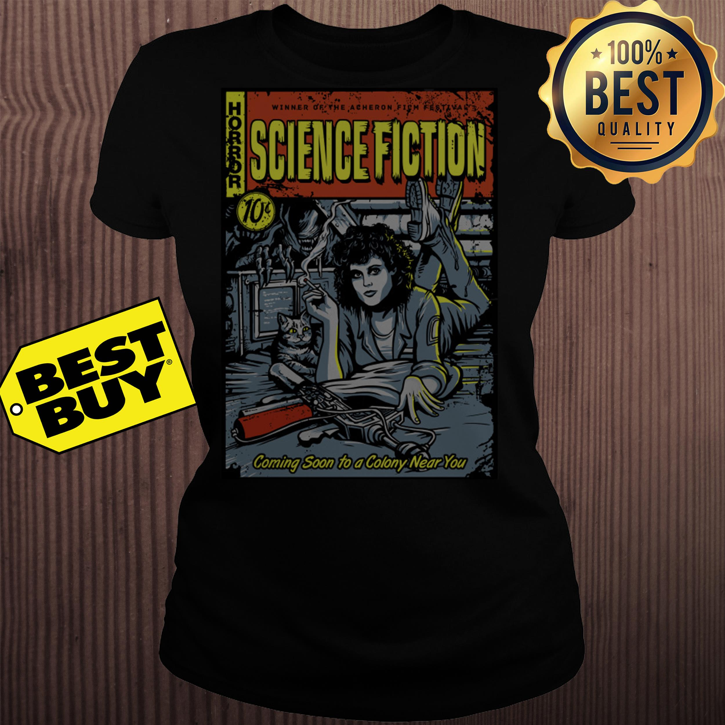 Horror winner of the Acheron science fiction 10c  ladies tee