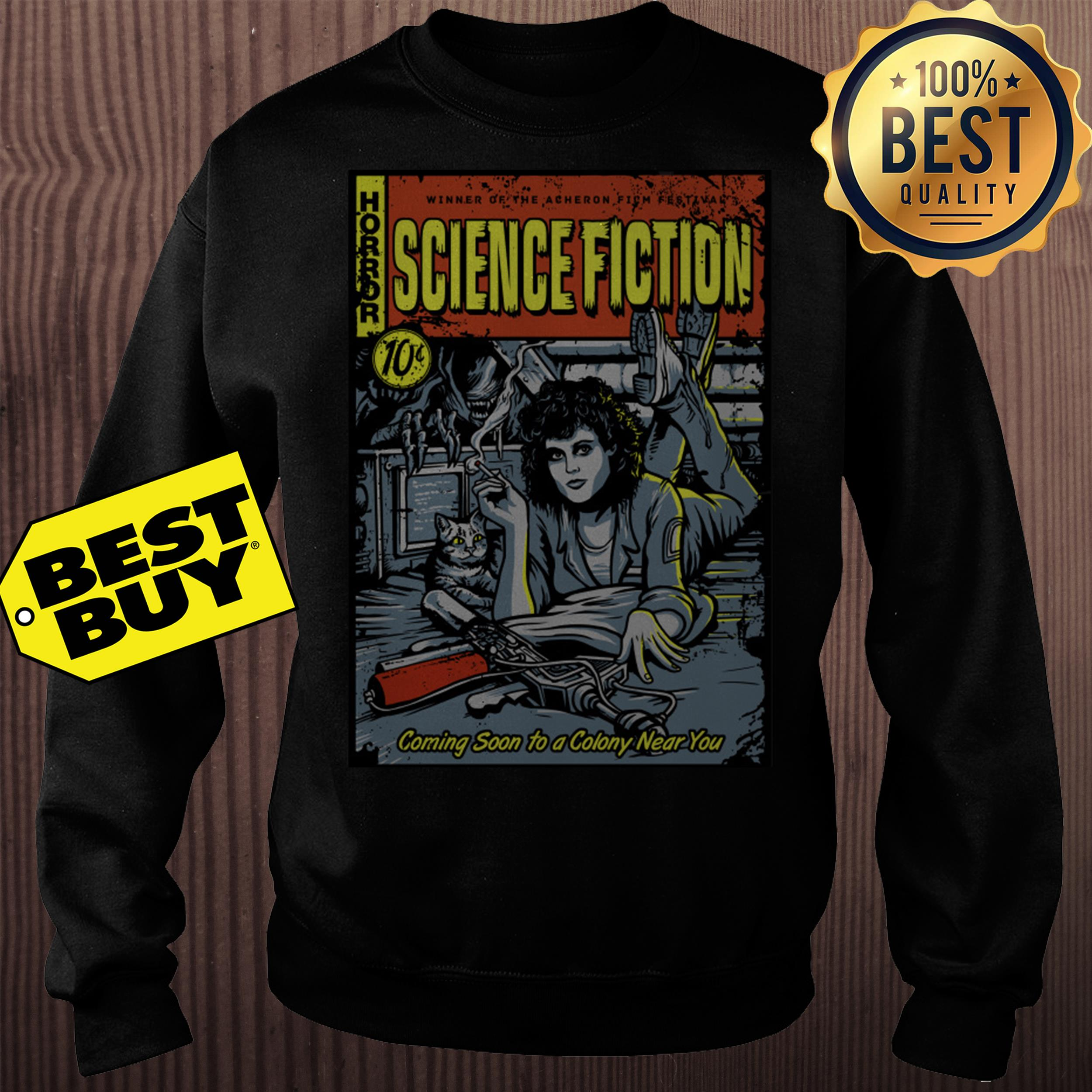 Horror winner of the Acheron science fiction 10c sweatshirt