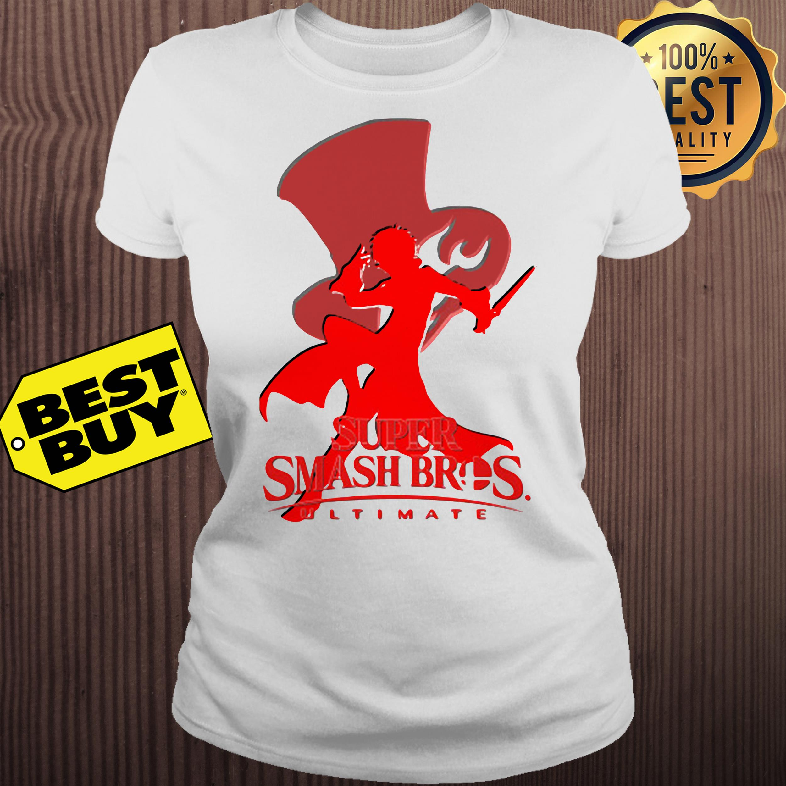 Joker Silhouette Crew Neck super smash bros ultimate ladies tee