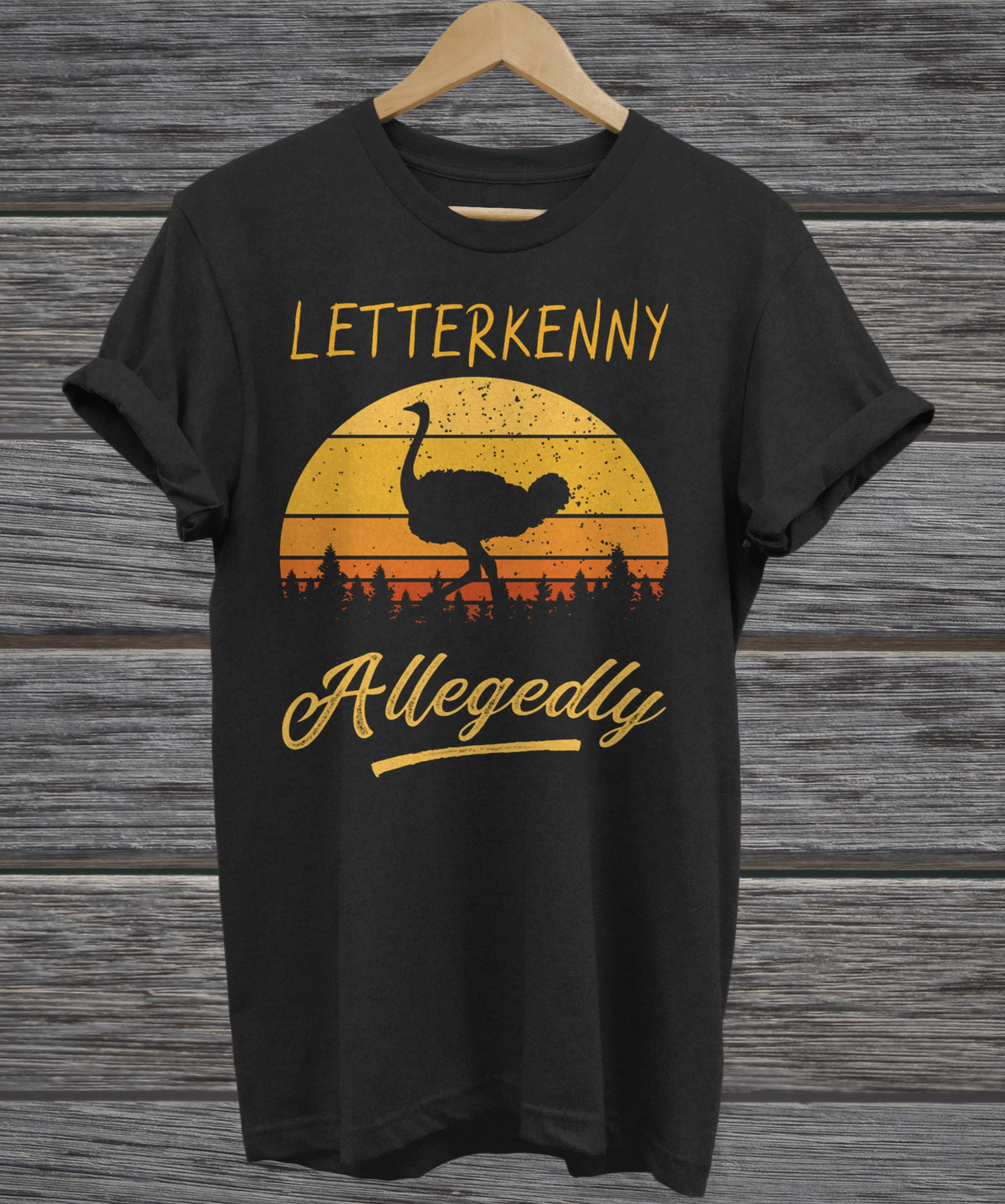 Letterkenny Allegedly Ostrich retro vintage sunset tank top