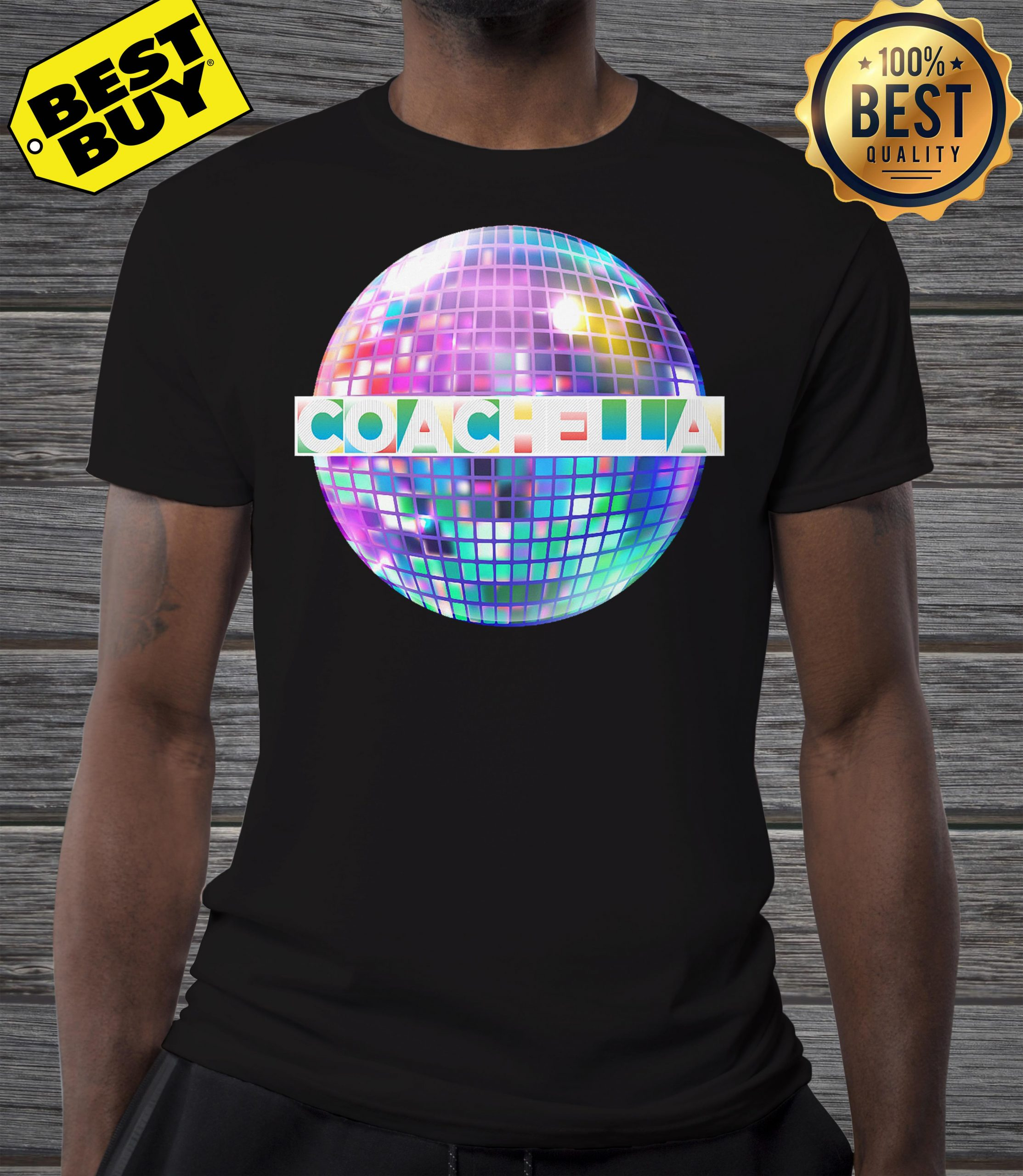 Light-up Blinking Coachella shirt