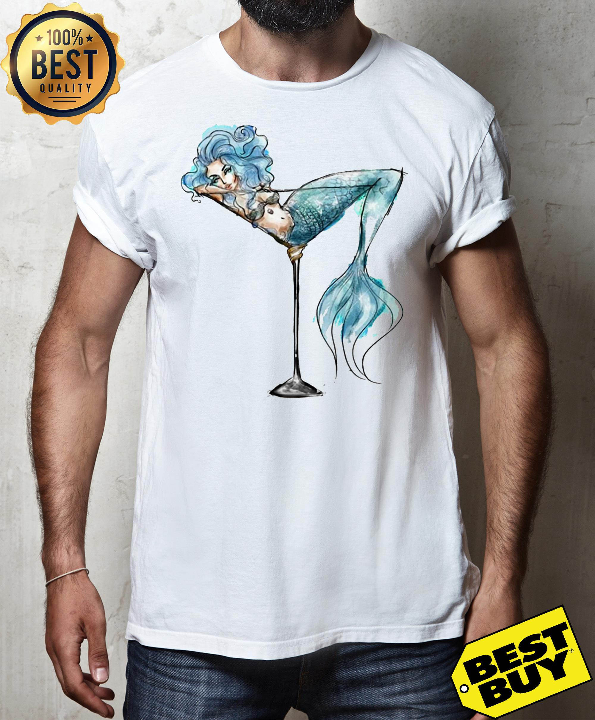 Mermaid and cocktail glass shirt