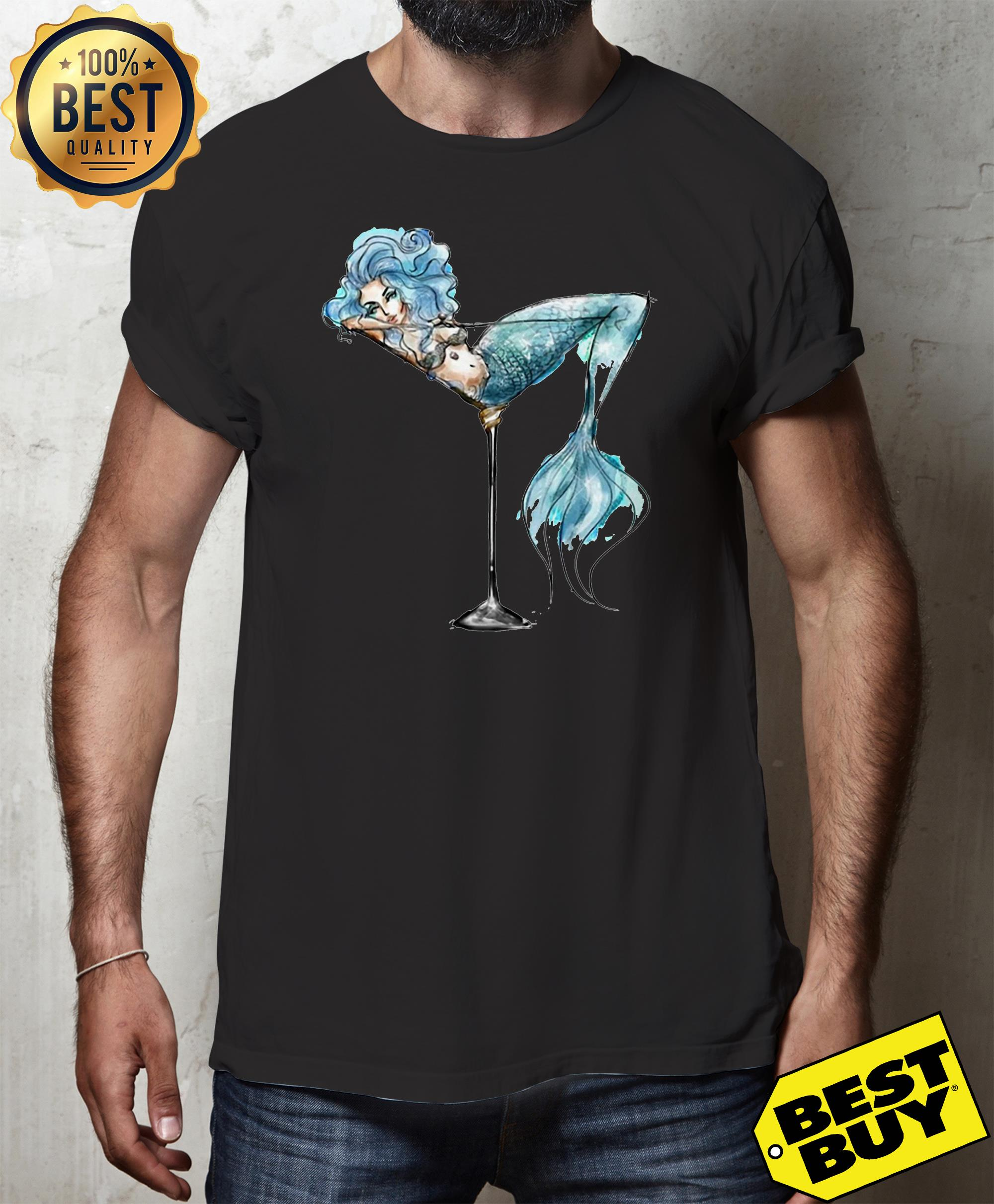 Mermaid and cocktail glass v-neck