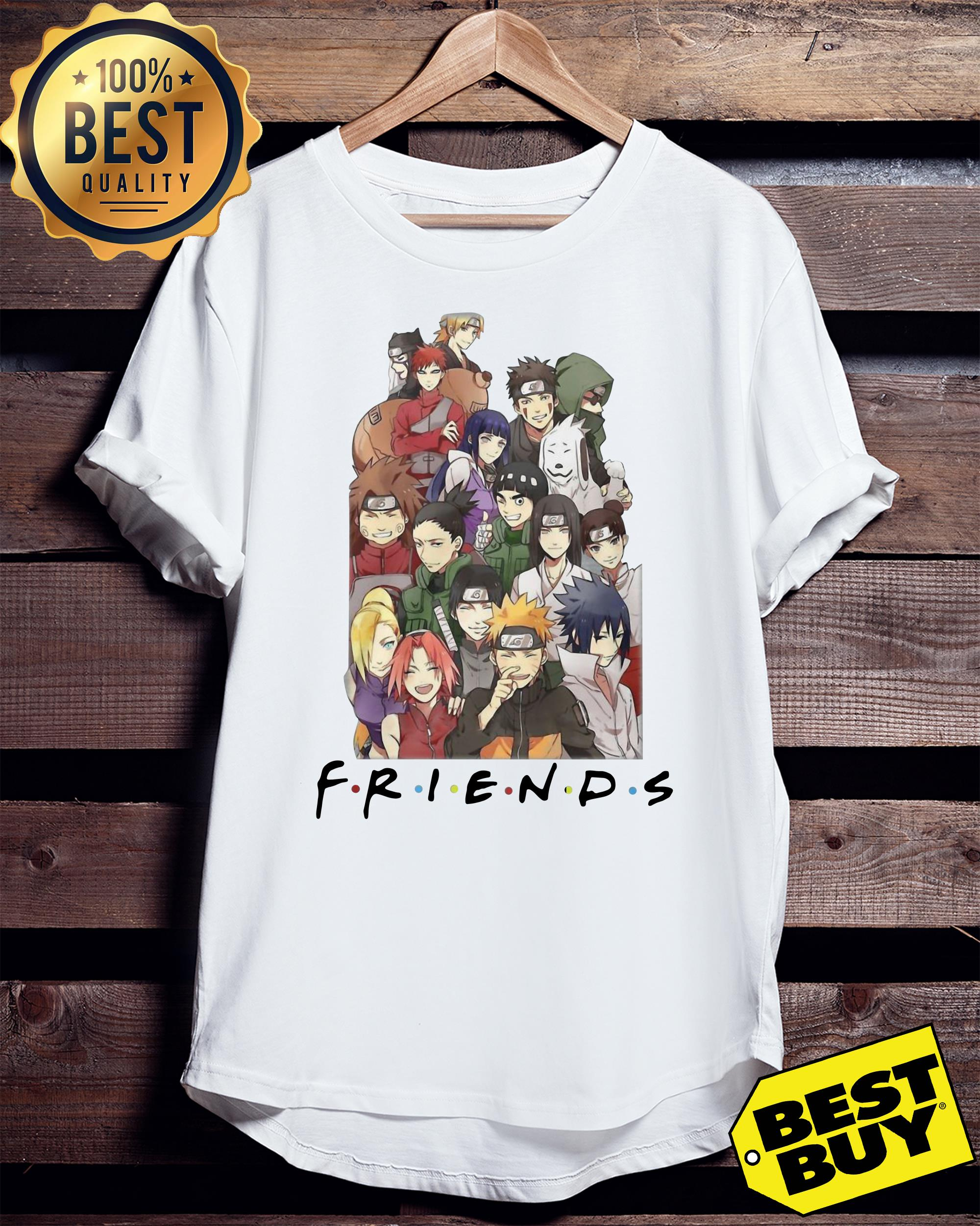 NARUTO CHARACTERS FRIEND ladies tee