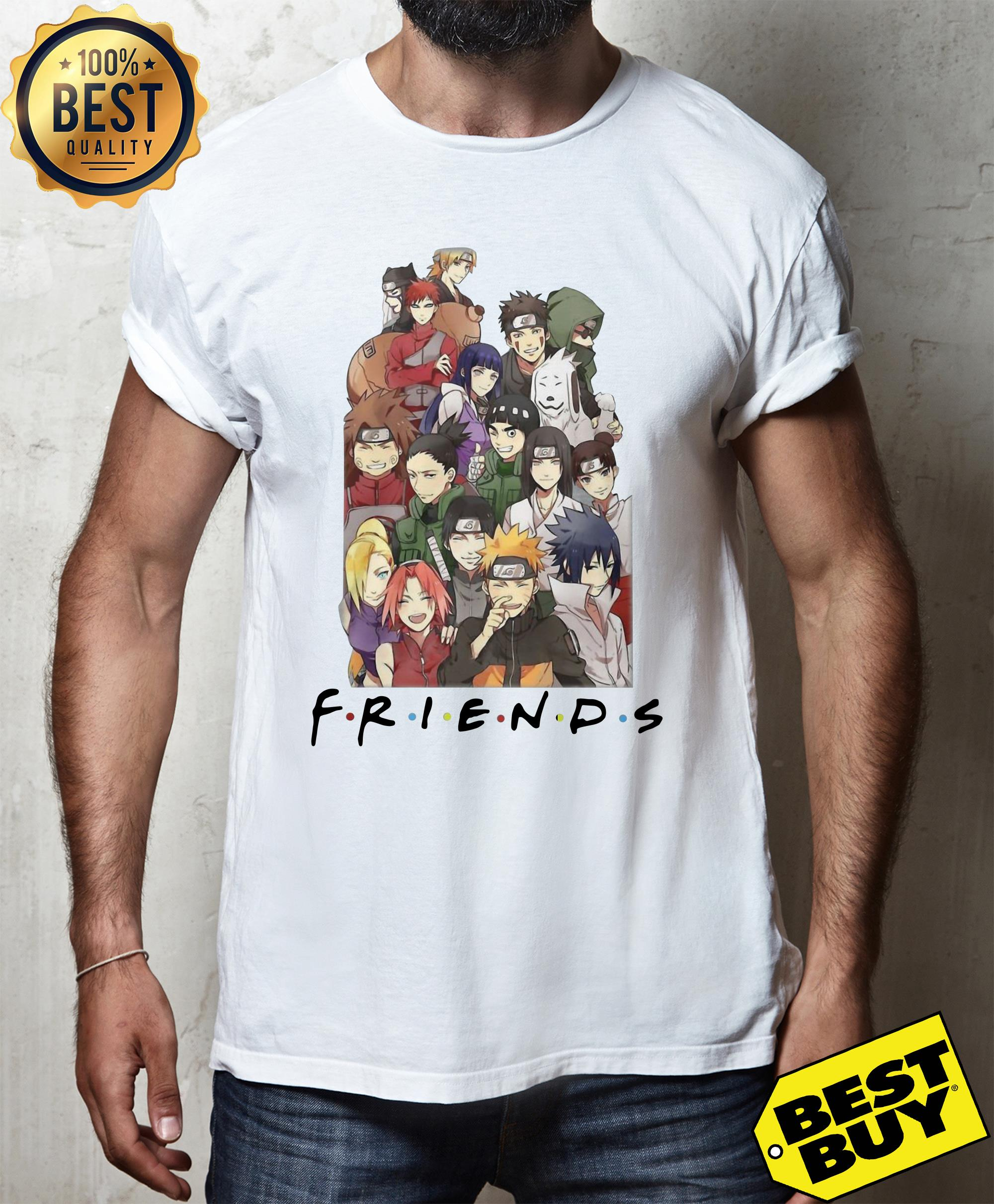 NARUTO CHARACTERS FRIEND SHIRT