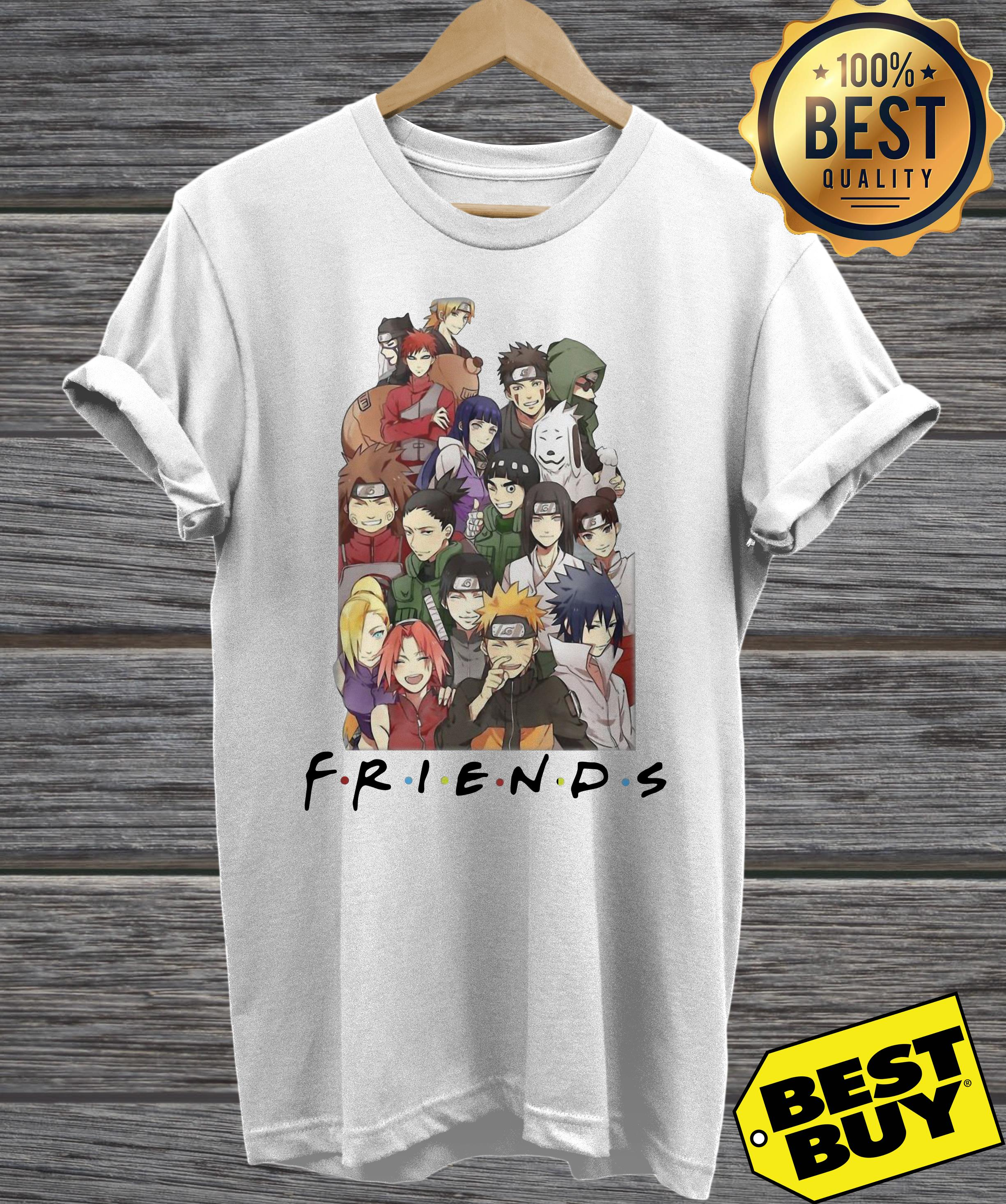 NARUTO CHARACTERS FRIEND v-neck