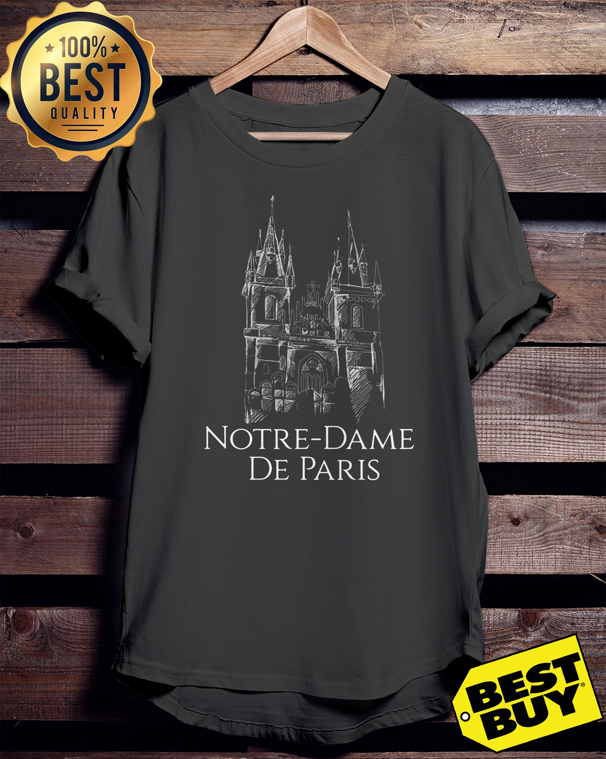 Notre Dame De Paris 1163-2019 Paris France City ladies tee