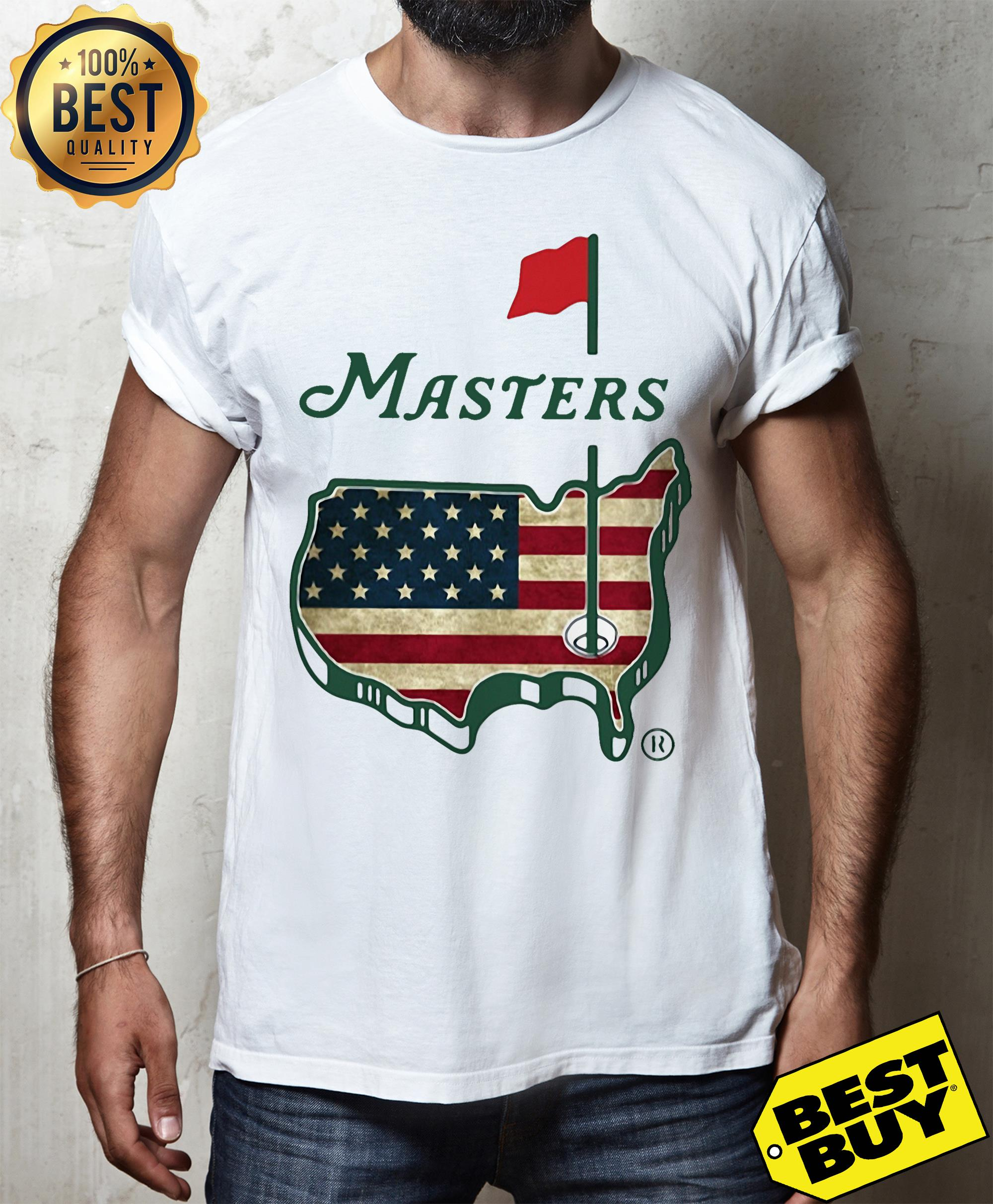 Official Masters American flag shirt