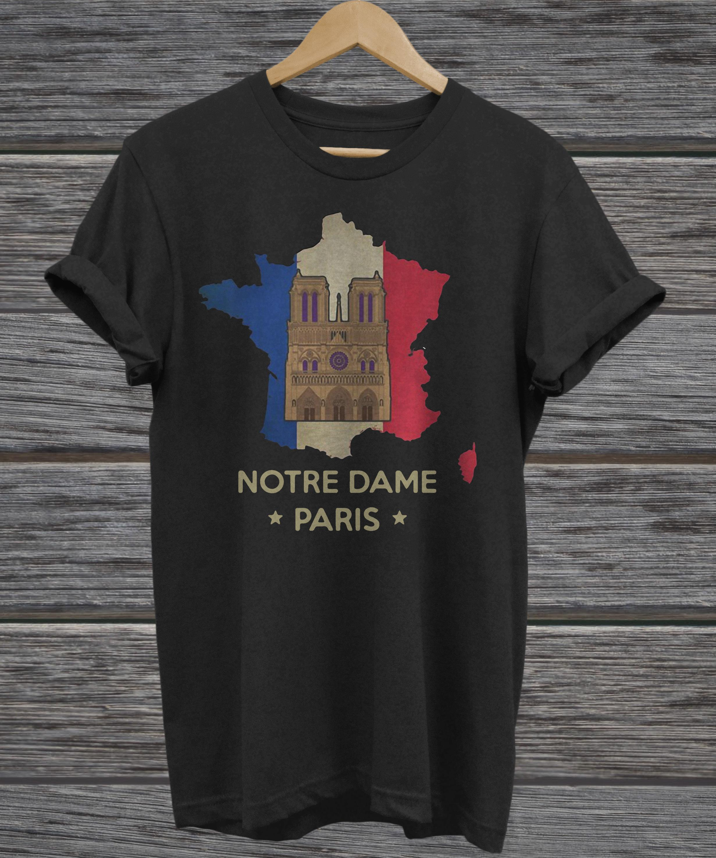 Official Paris France City Notre Dame Cathedral hoodie