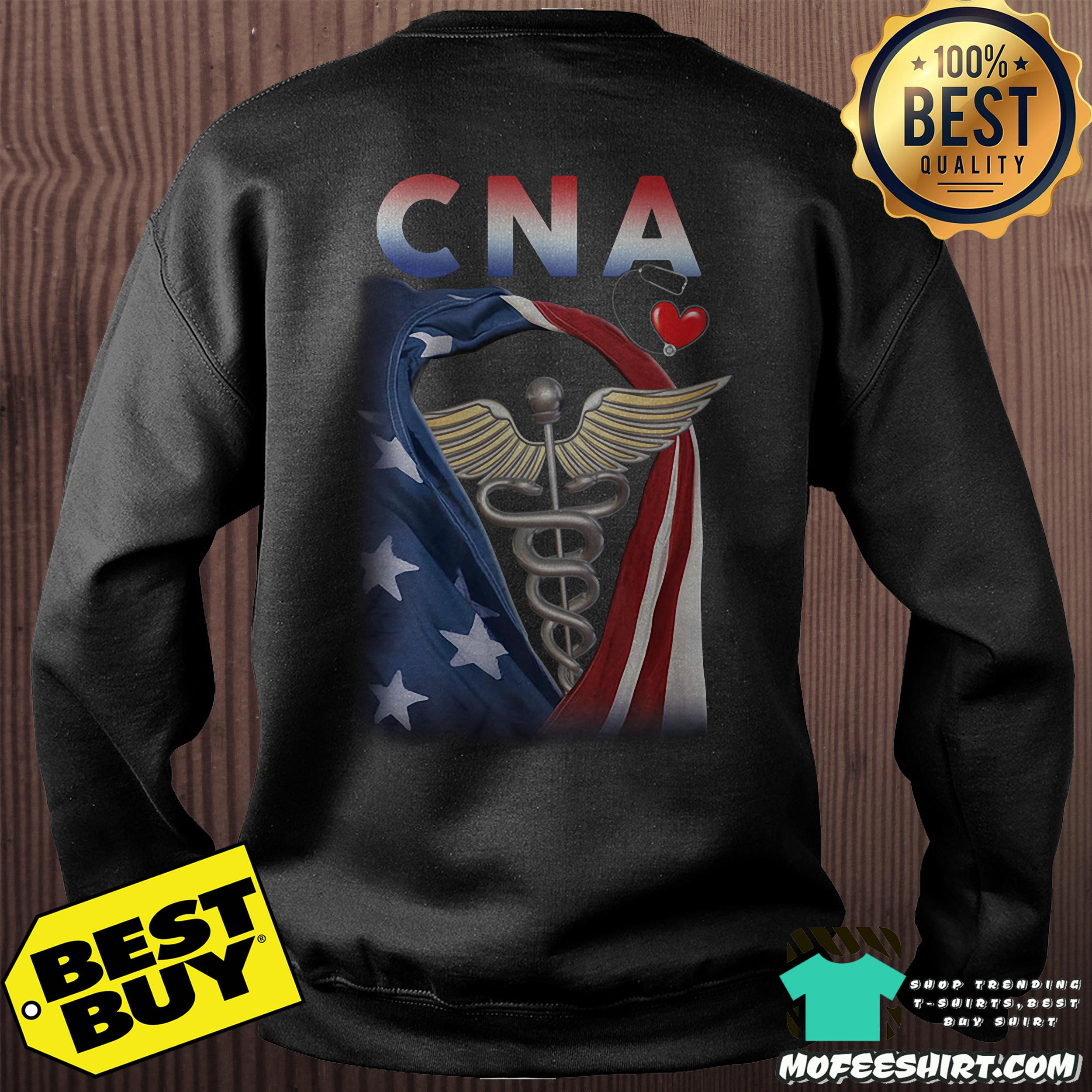 Official Patriotic CNA heartbeat sweatshirt