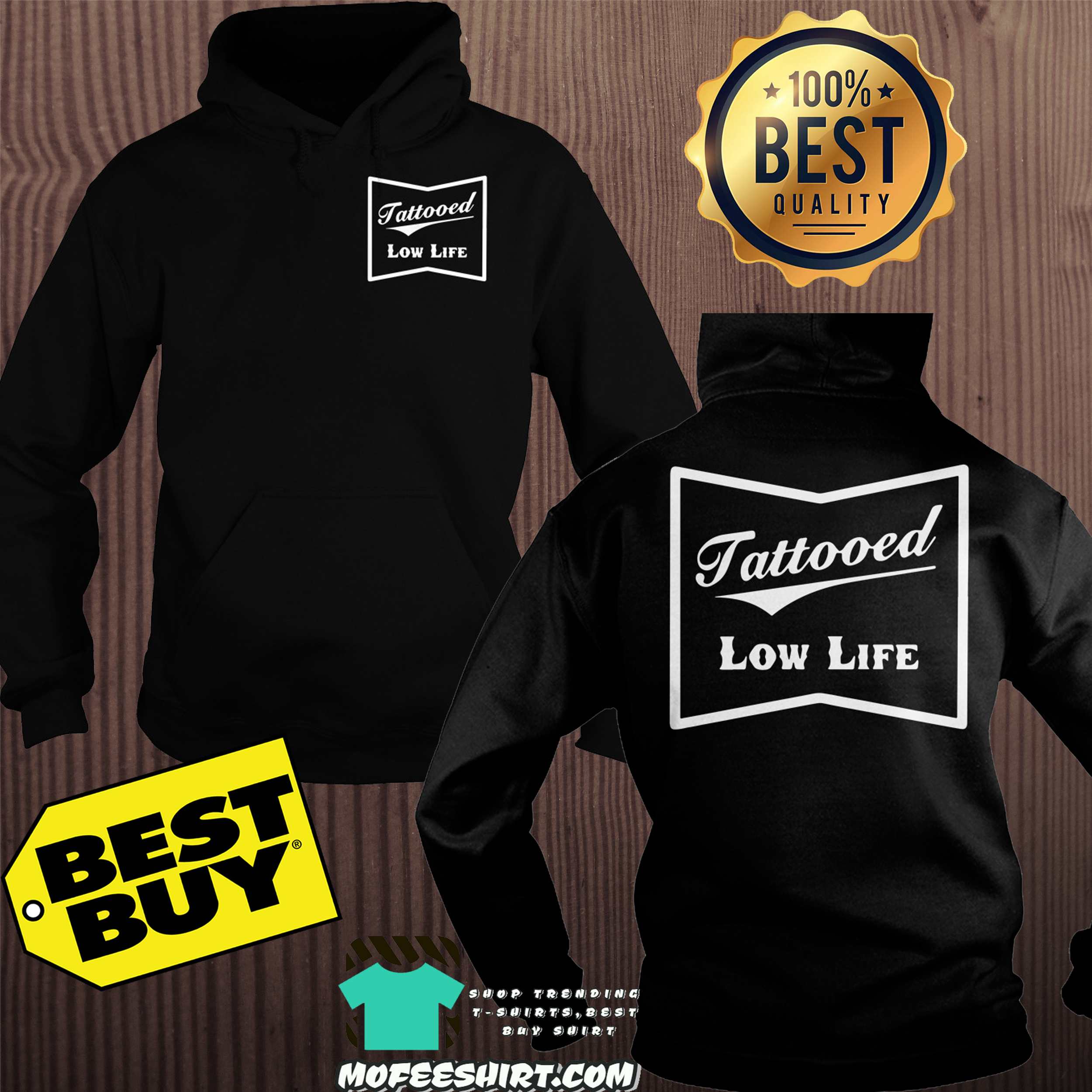 Official Tattooed low life hoodie