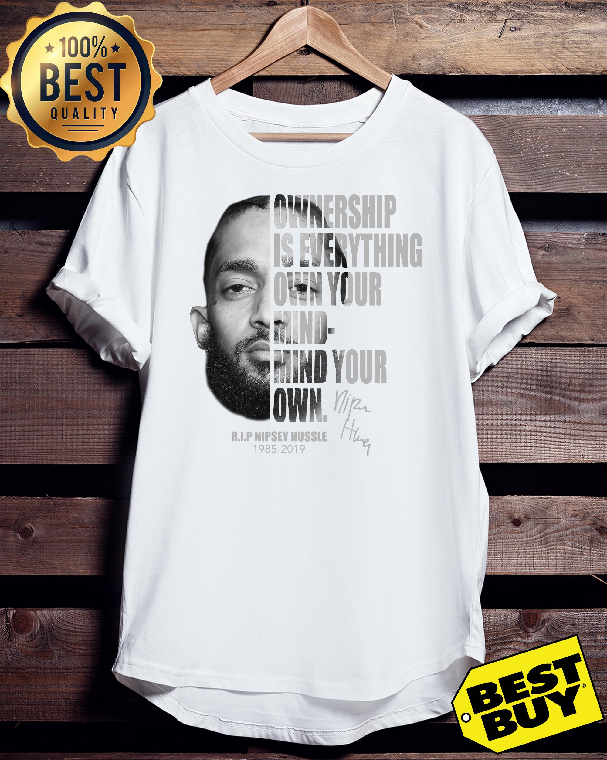 Ownership Is Everything Own Your Mind Mind Your Own Rip Nipsey Hussle tank top