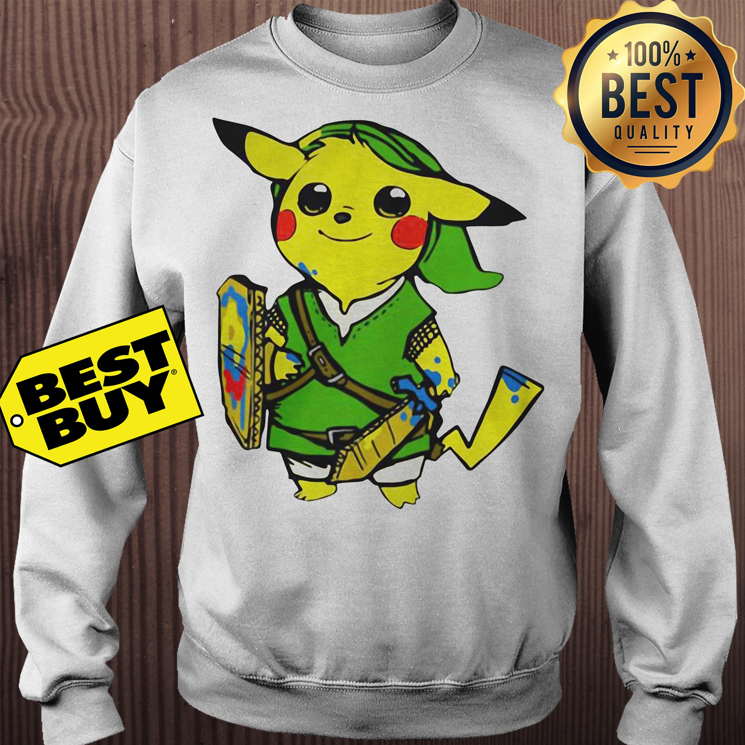Pikachu link legend of Zelda parody sweatshirt
