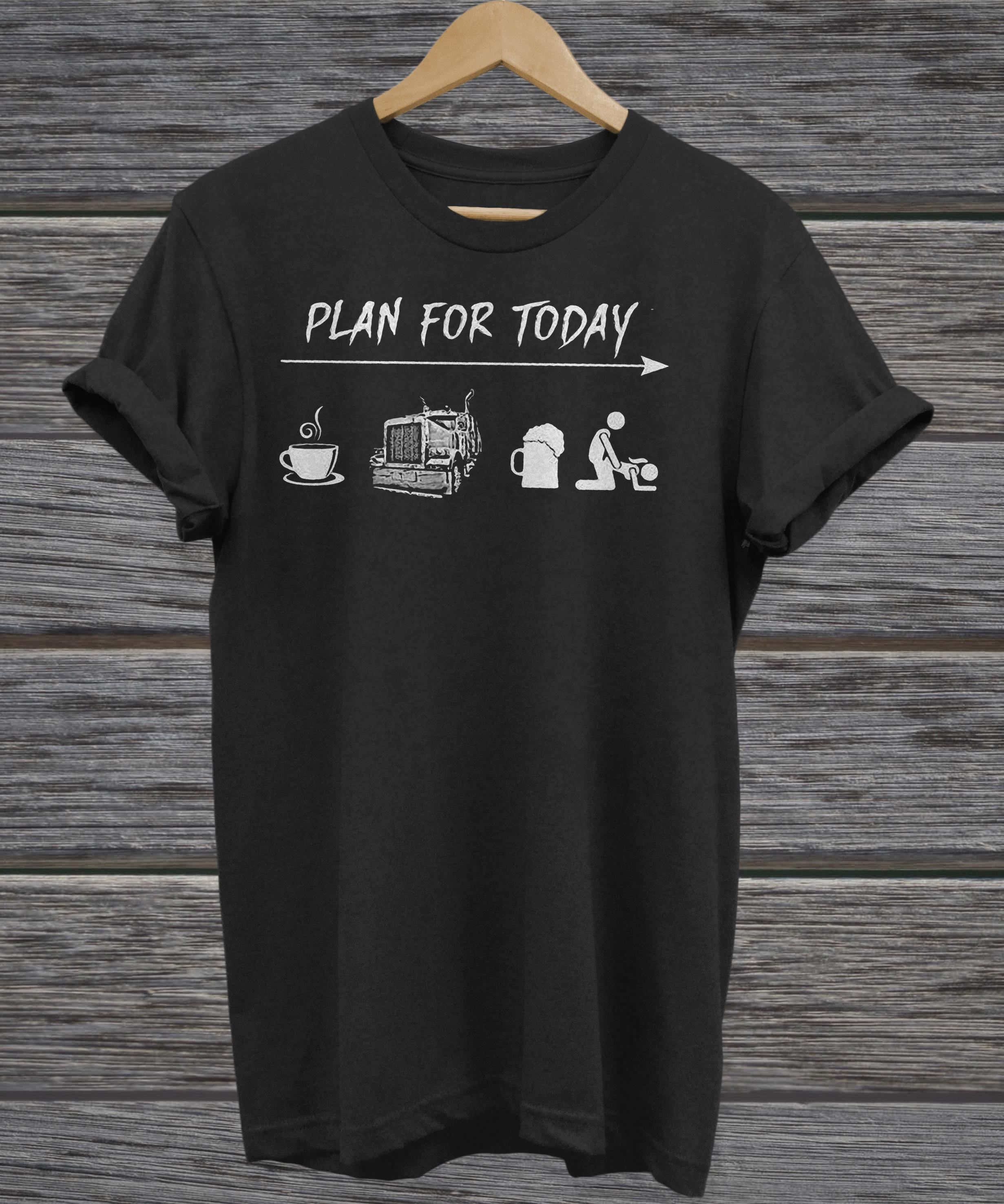 Plan For Today Are Coffee Motorbike Beer And Sex ladies tee