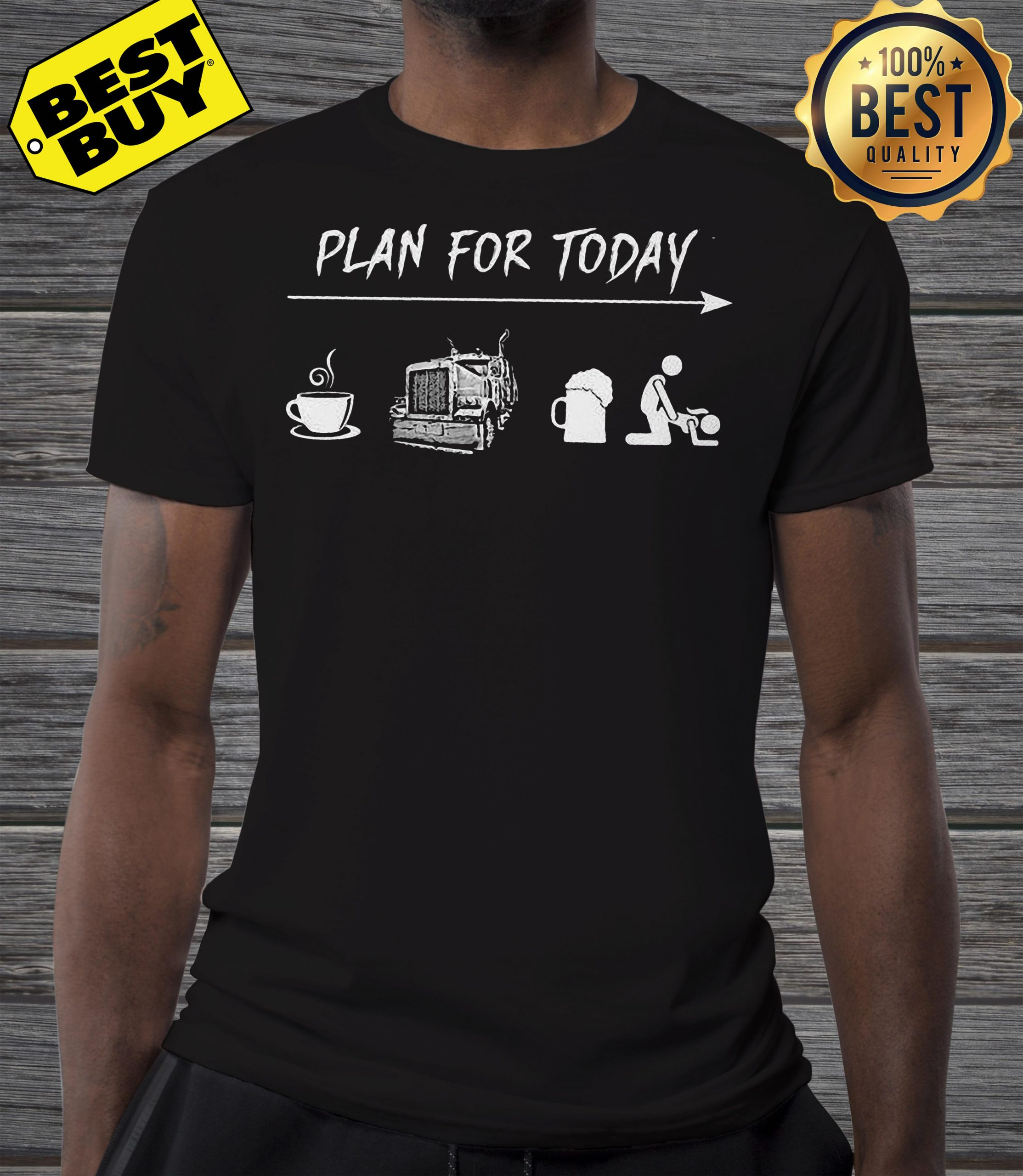 Plan For Today Are Coffee Motorbike Beer And Sex shirt