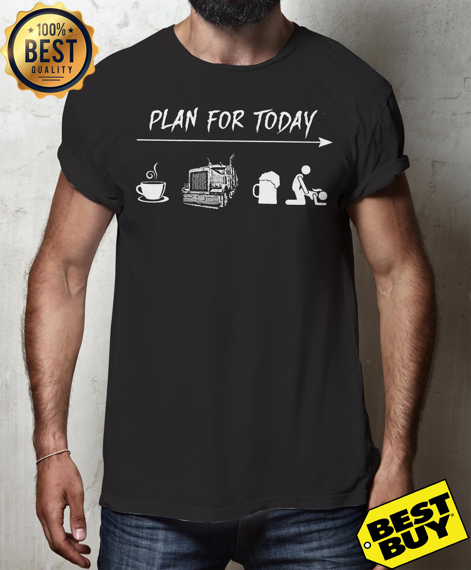 Plan For Today Are Coffee Motorbike Beer And Sex tank top