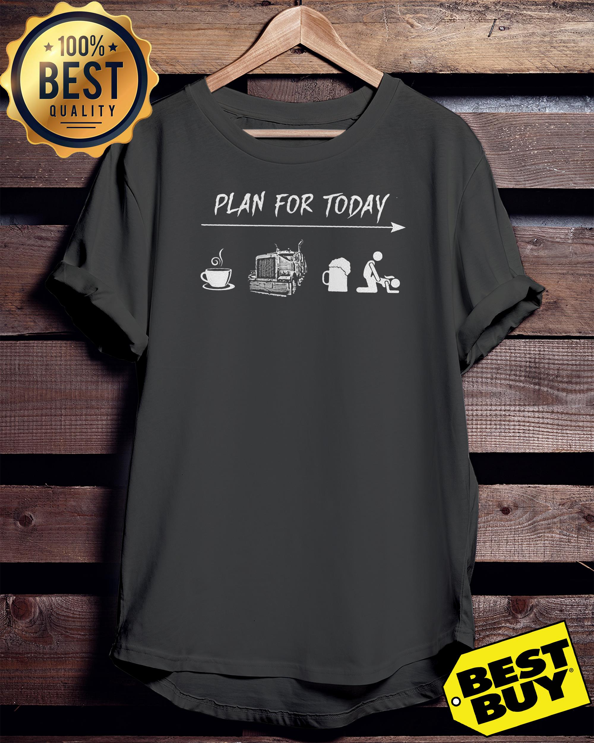 Plan For Today Are Coffee Motorbike Beer And Sex v-neck