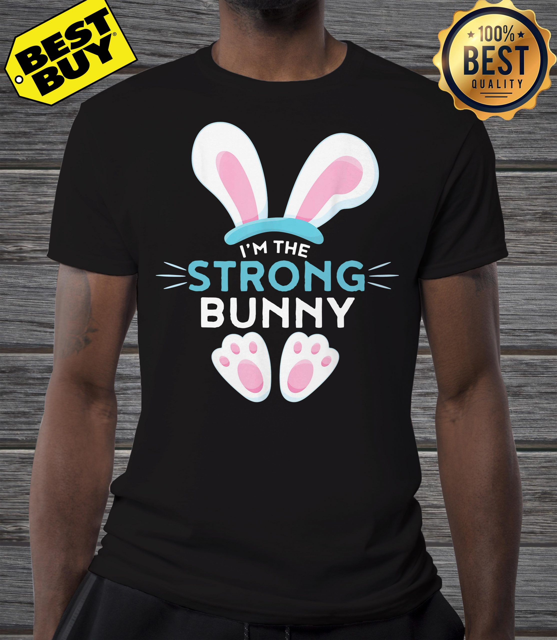 Rabbit Easter I'm the strong Bunny shirt