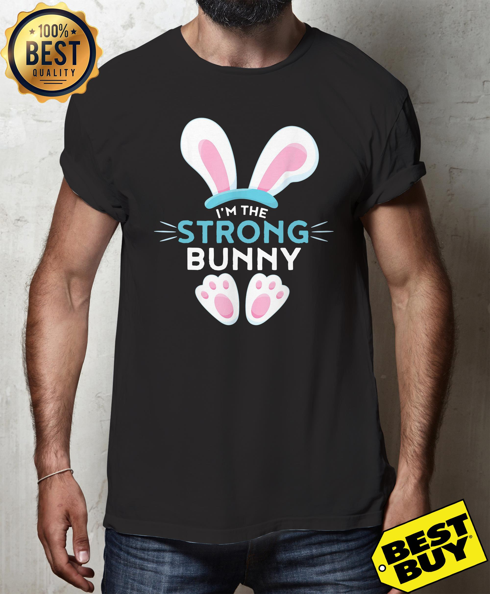 Rabbit Easter I'm the strong Bunny v-neck