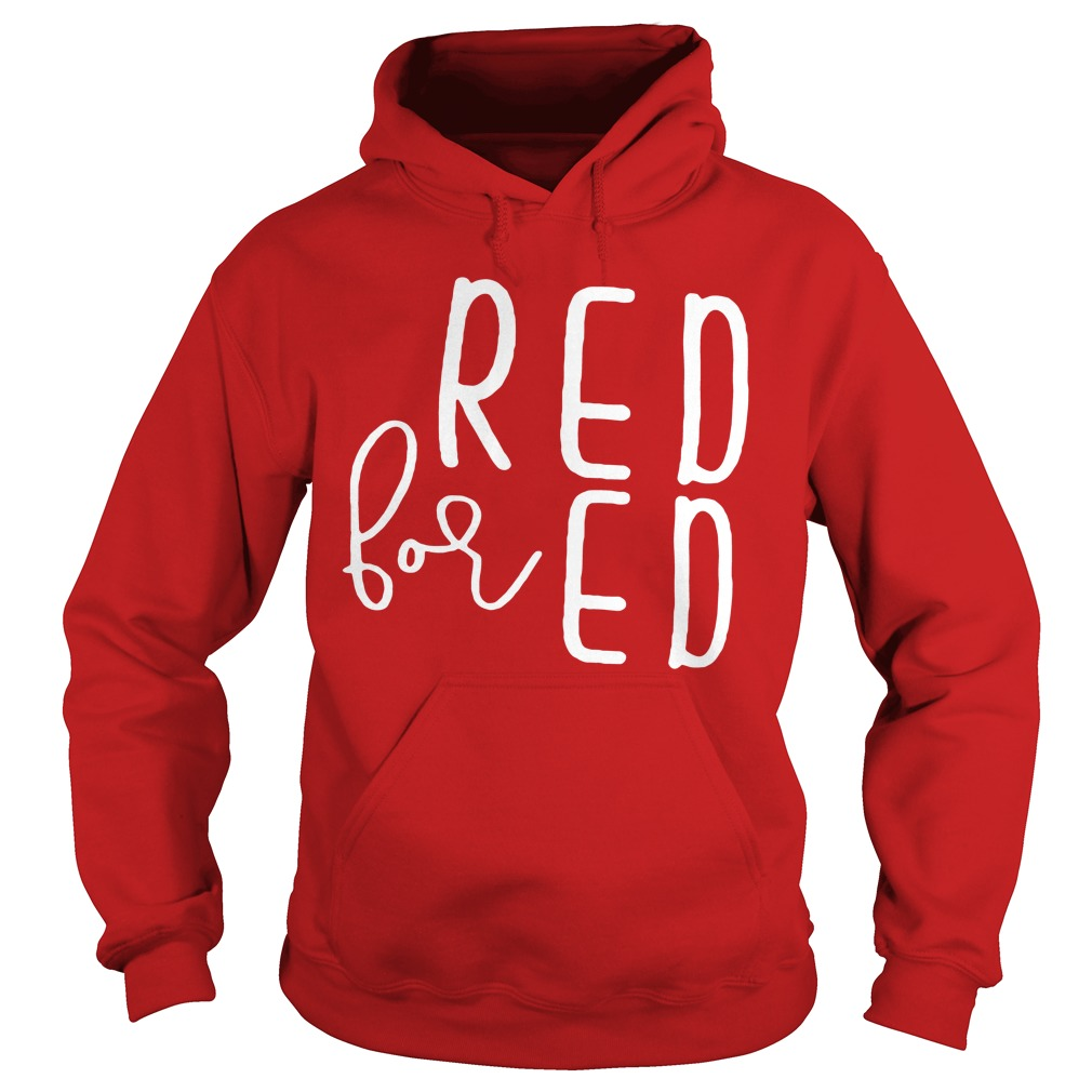 Red for Ed - Teacher hoodie