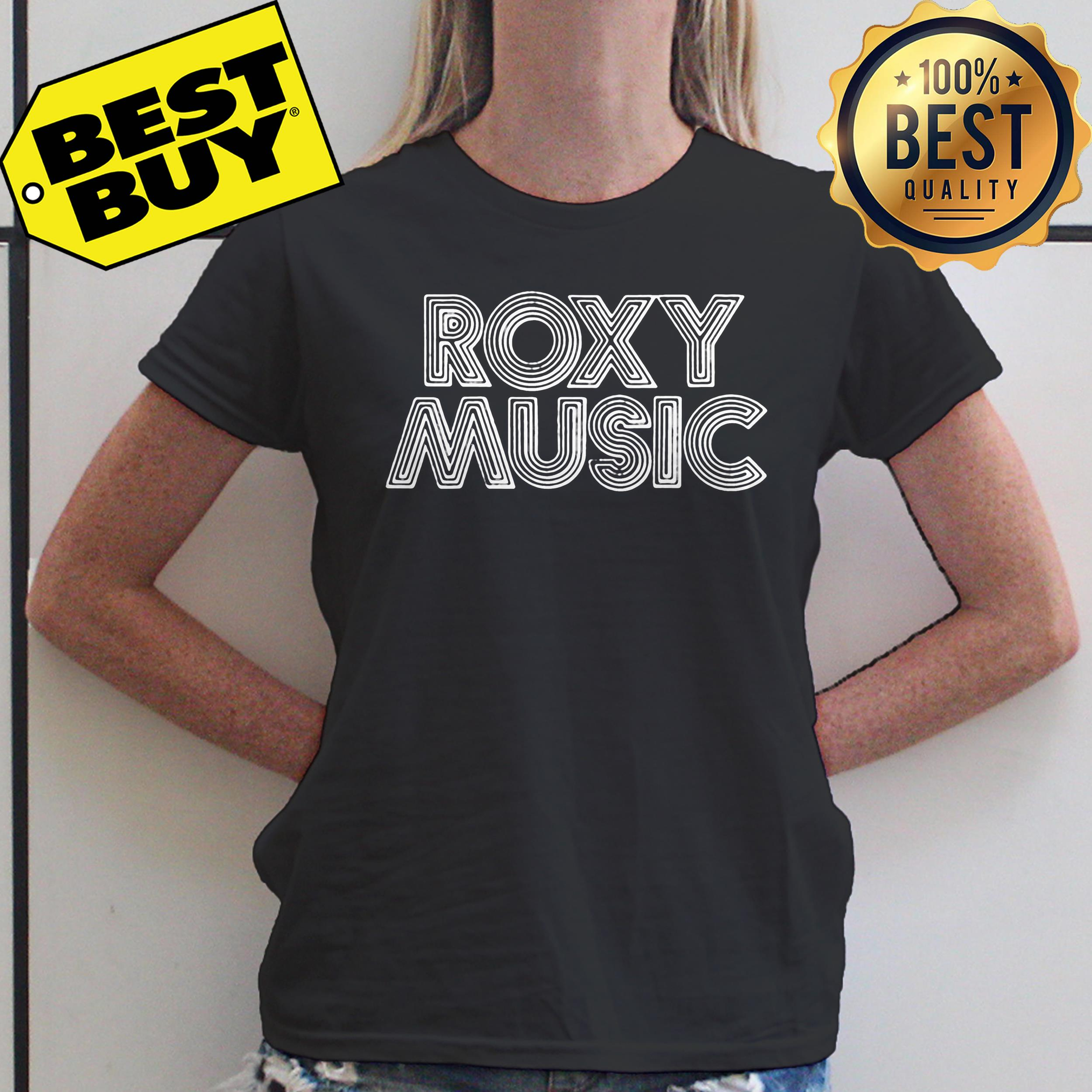 Roxy Music 'Retro Logo' ladies tee
