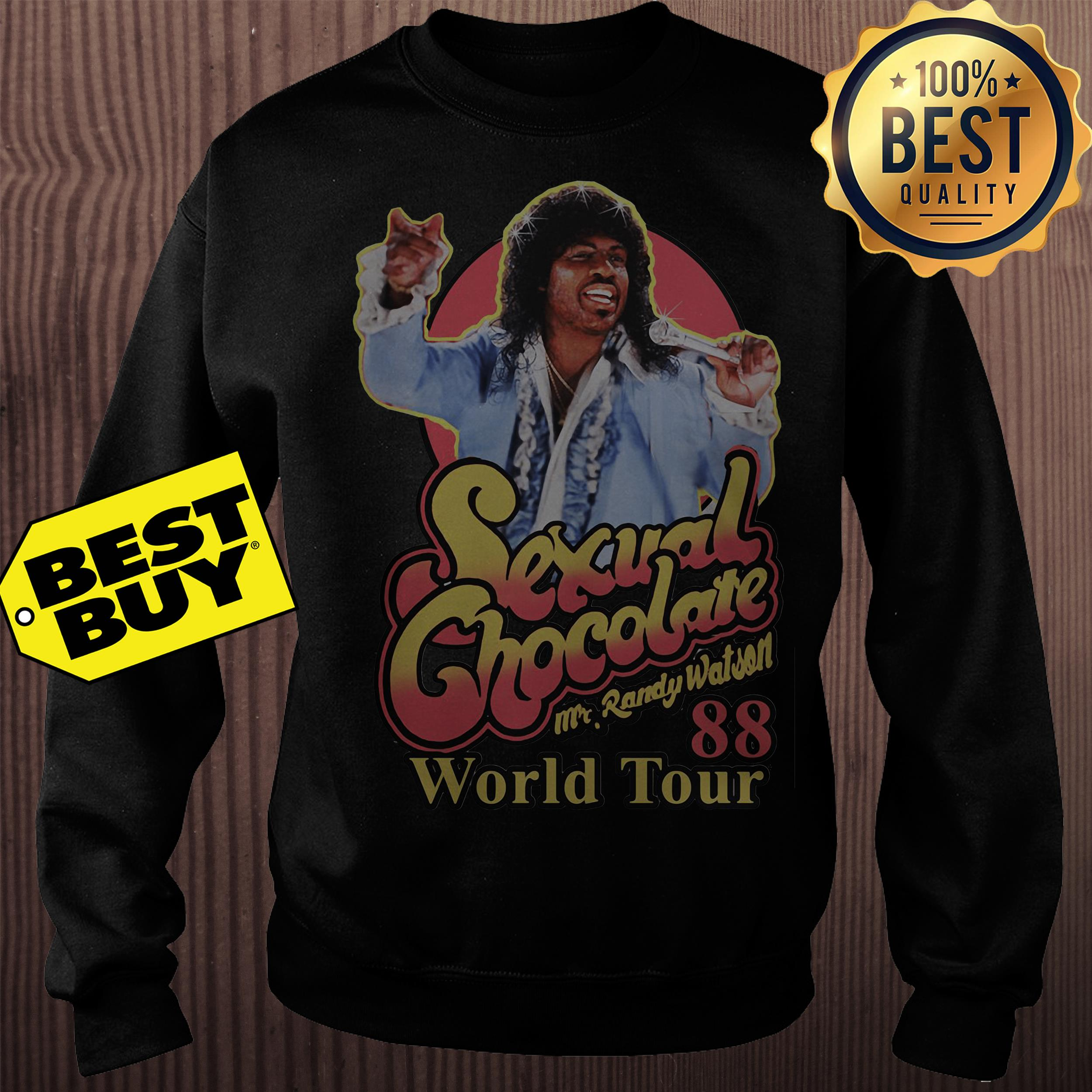 Sexual chocolate Mr.Randy Watson 88 world tour sweatshirt
